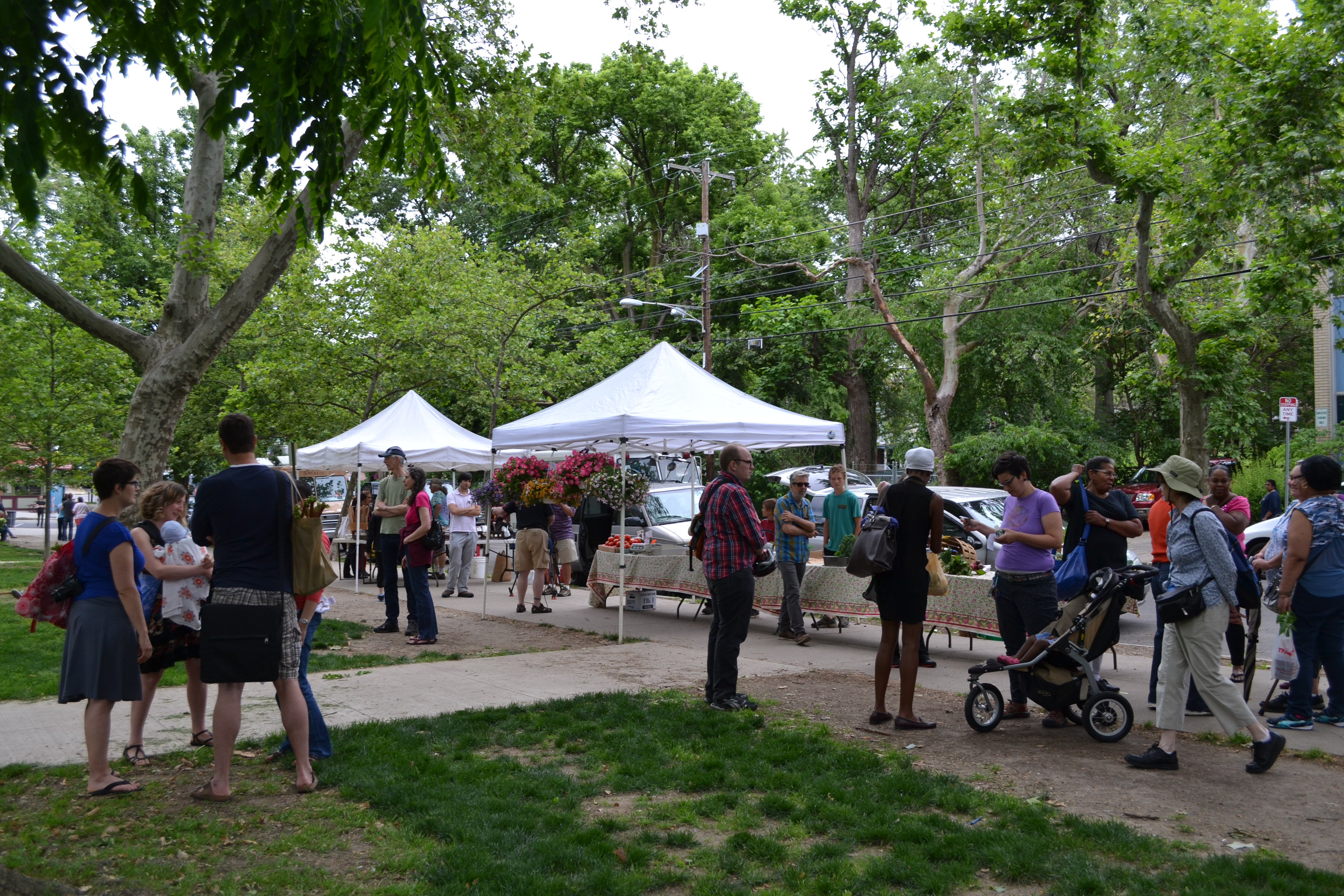 The Thursday farmers' market returned to Clark Park this week