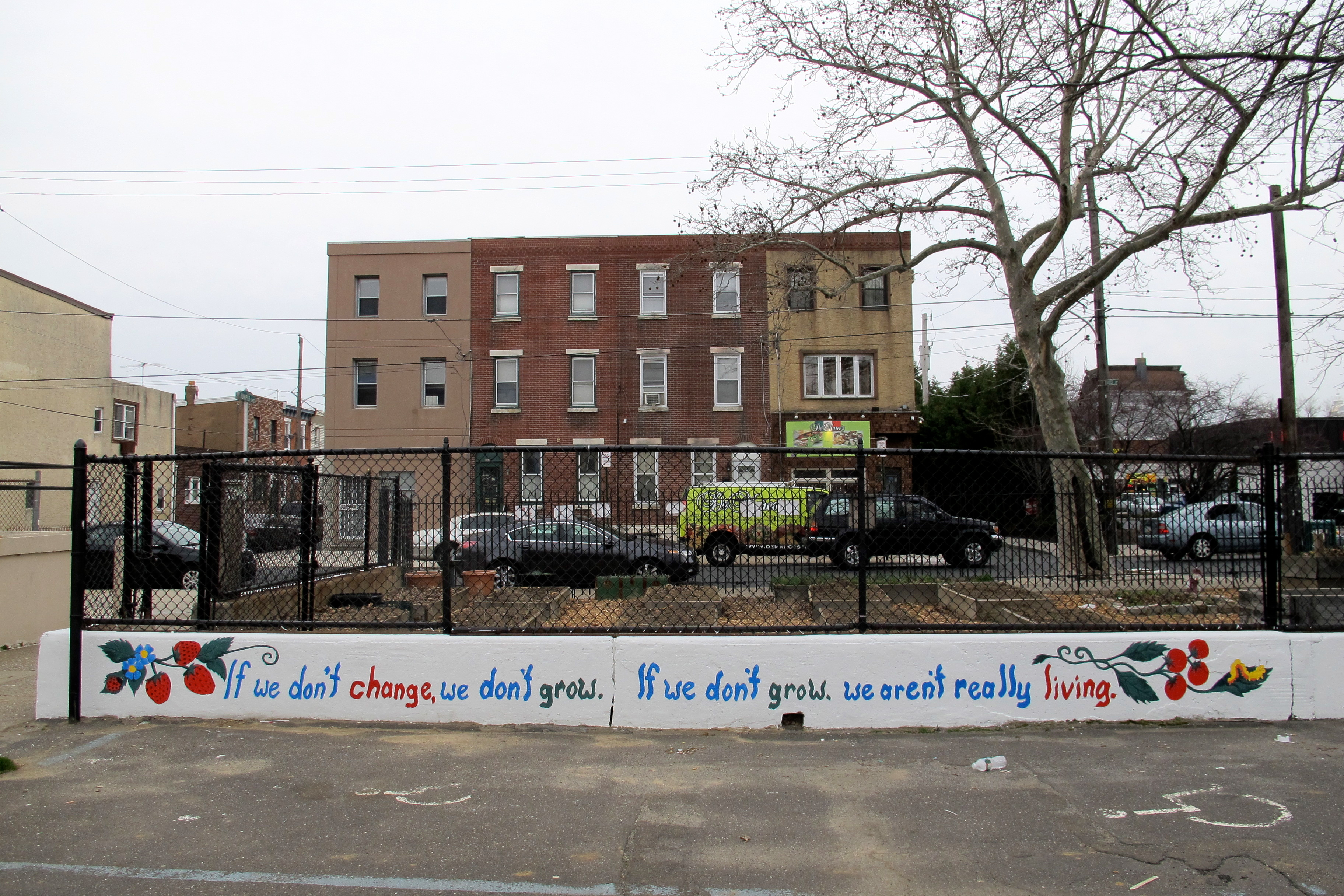 This garden wall was painted by City Year volunteers during spring break.