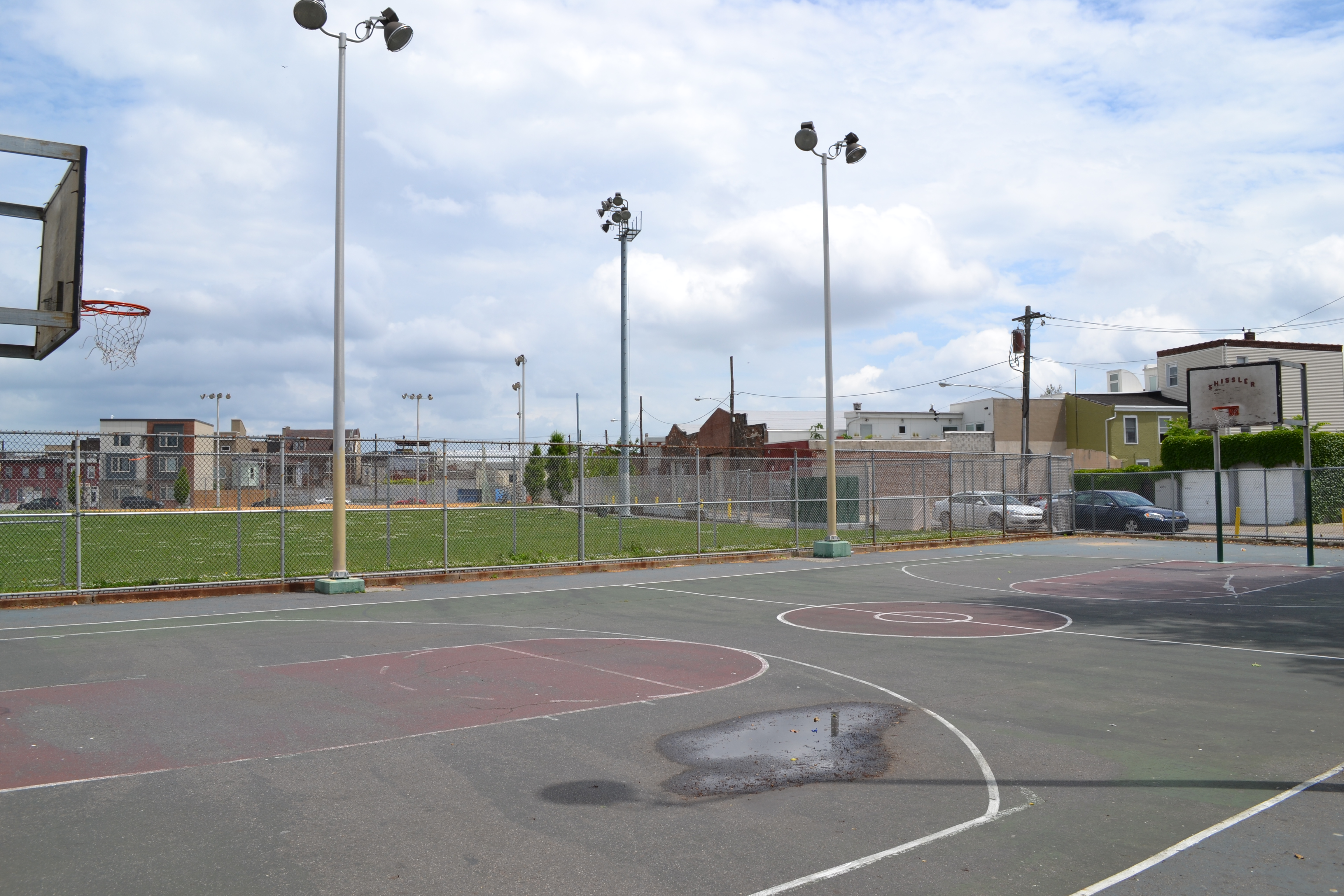 Up next, the Shissler Rec Center basketball court will be repaved and a stormwater management system will be installed beneath the pavement