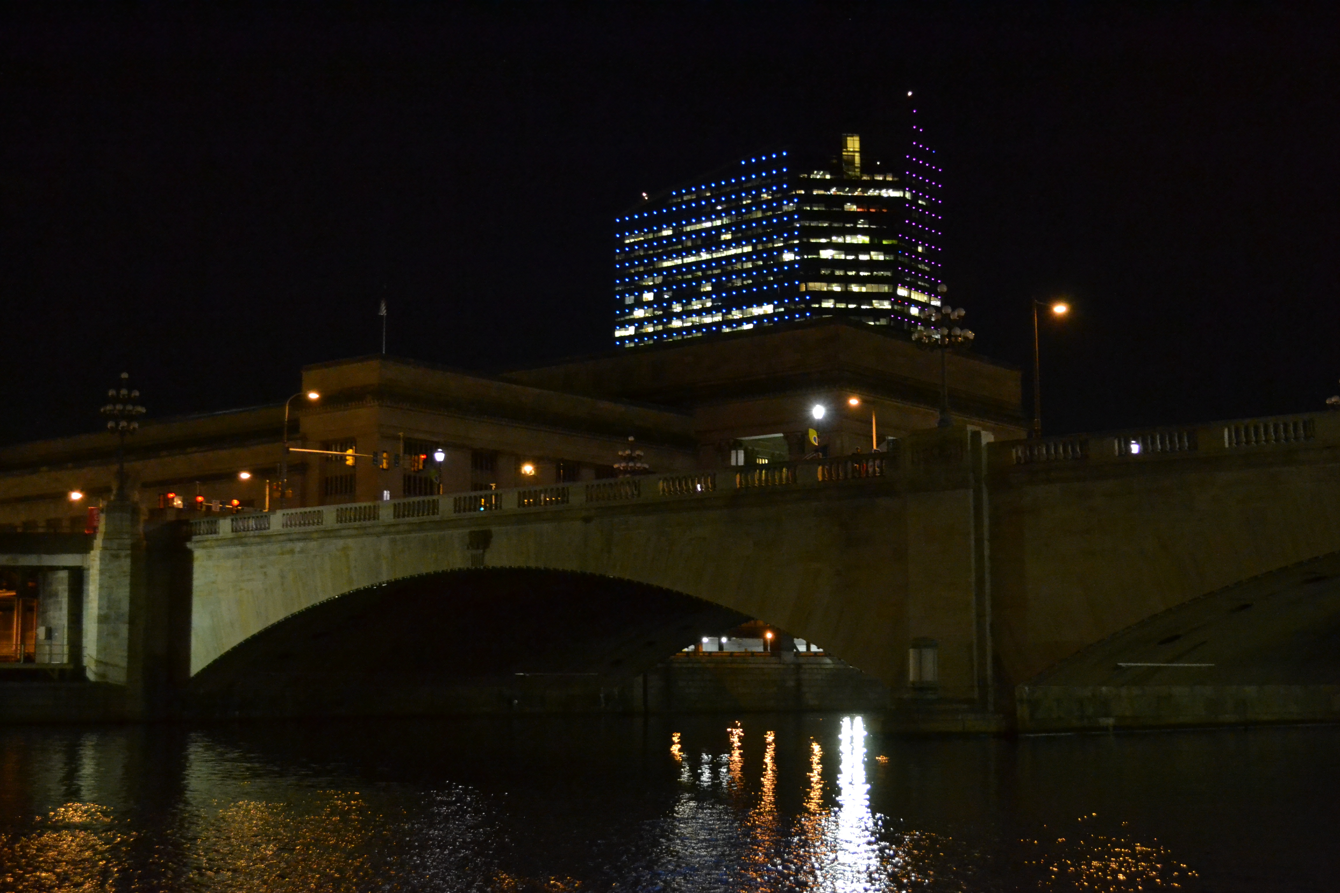 30th Street Bridge with 30th Street Station hidden in the background, pre-lighting