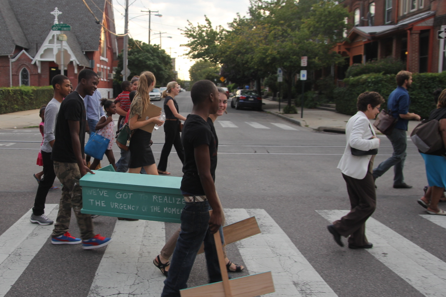 40th Street Walking Party, Photo Courtesy of Alethea Rockwell