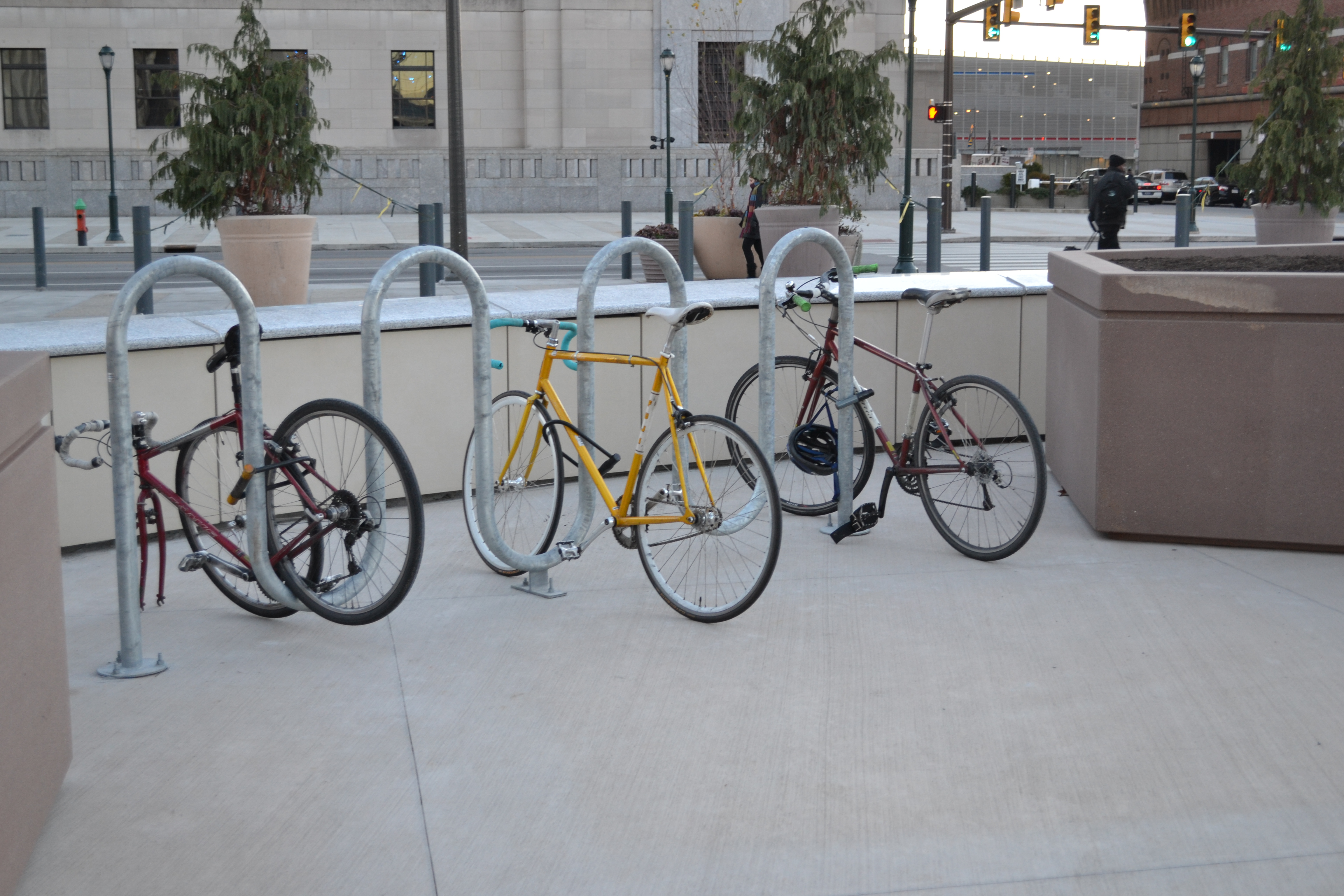 Amtrak installed nine new bike racks