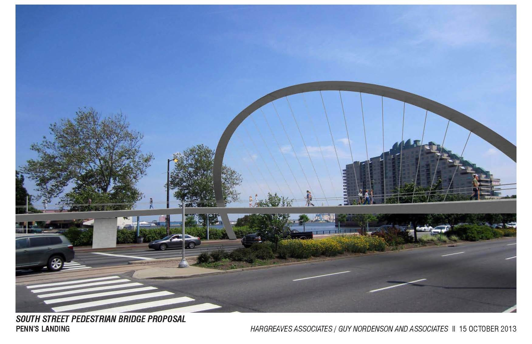An image of the South Street Bridge concept