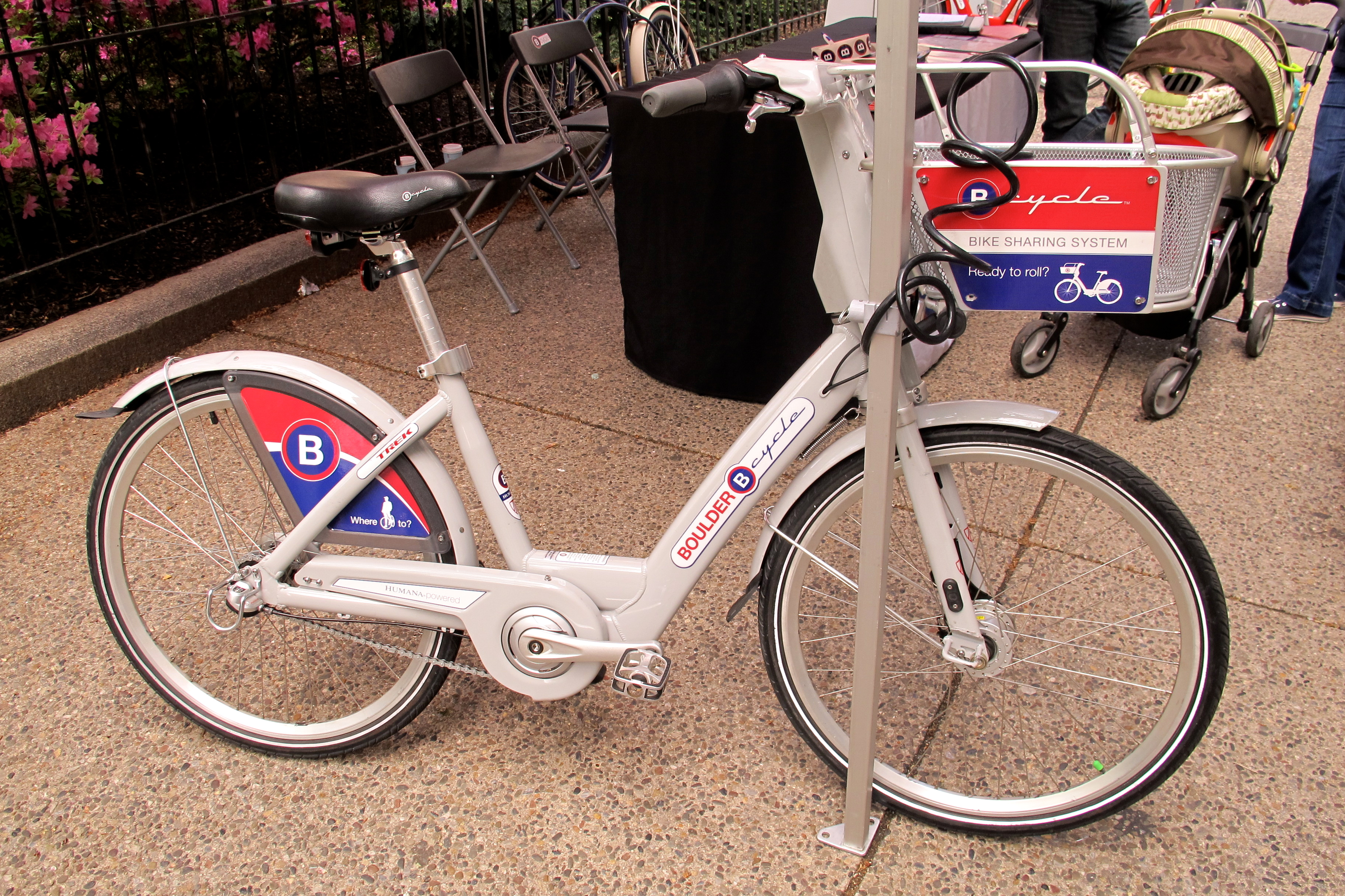 B-Cycle bike from Boulder's bike share system