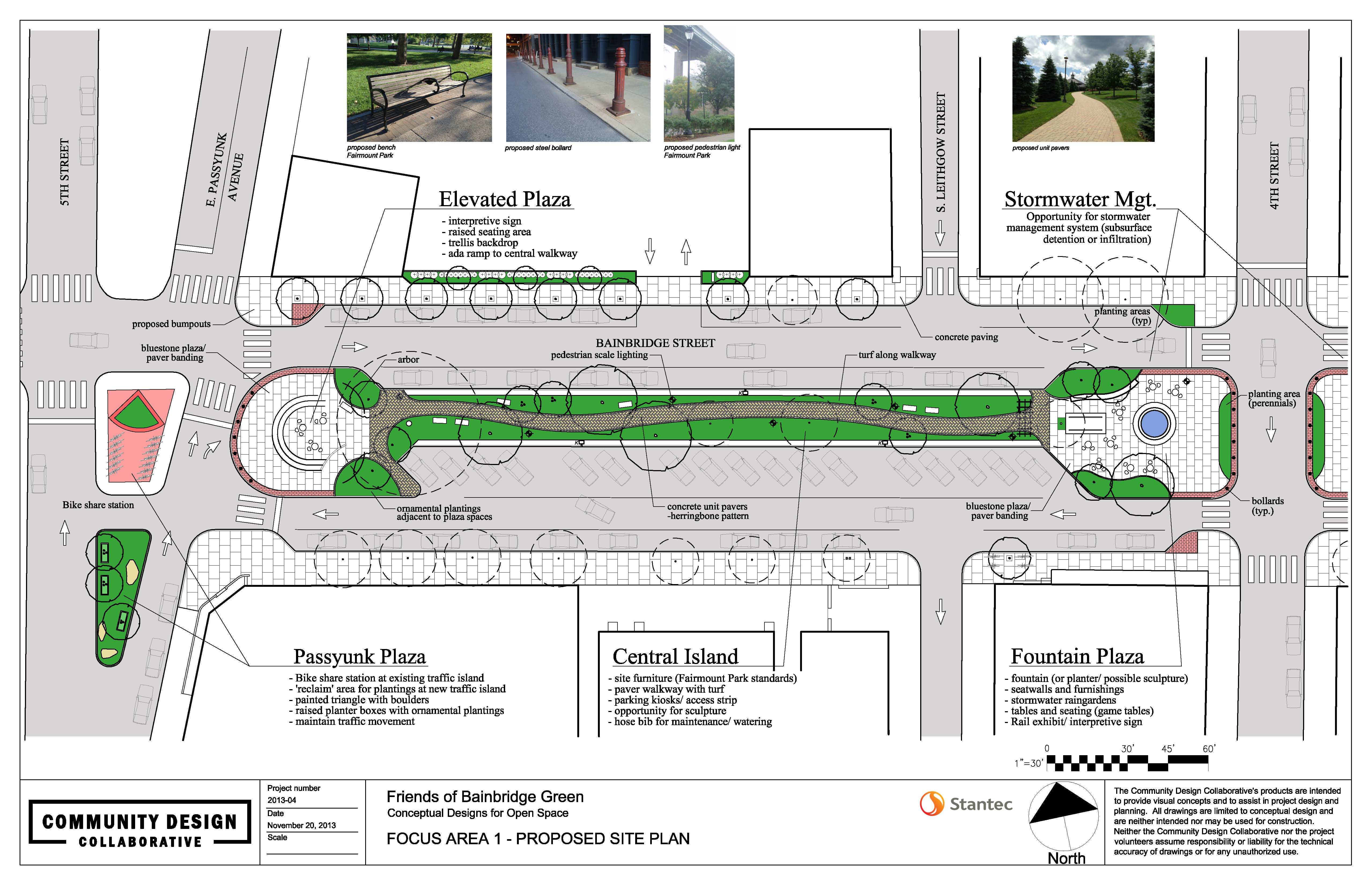 Bainbridge Green concept 5th and Passyunk to 4th | Community Design Collaborative