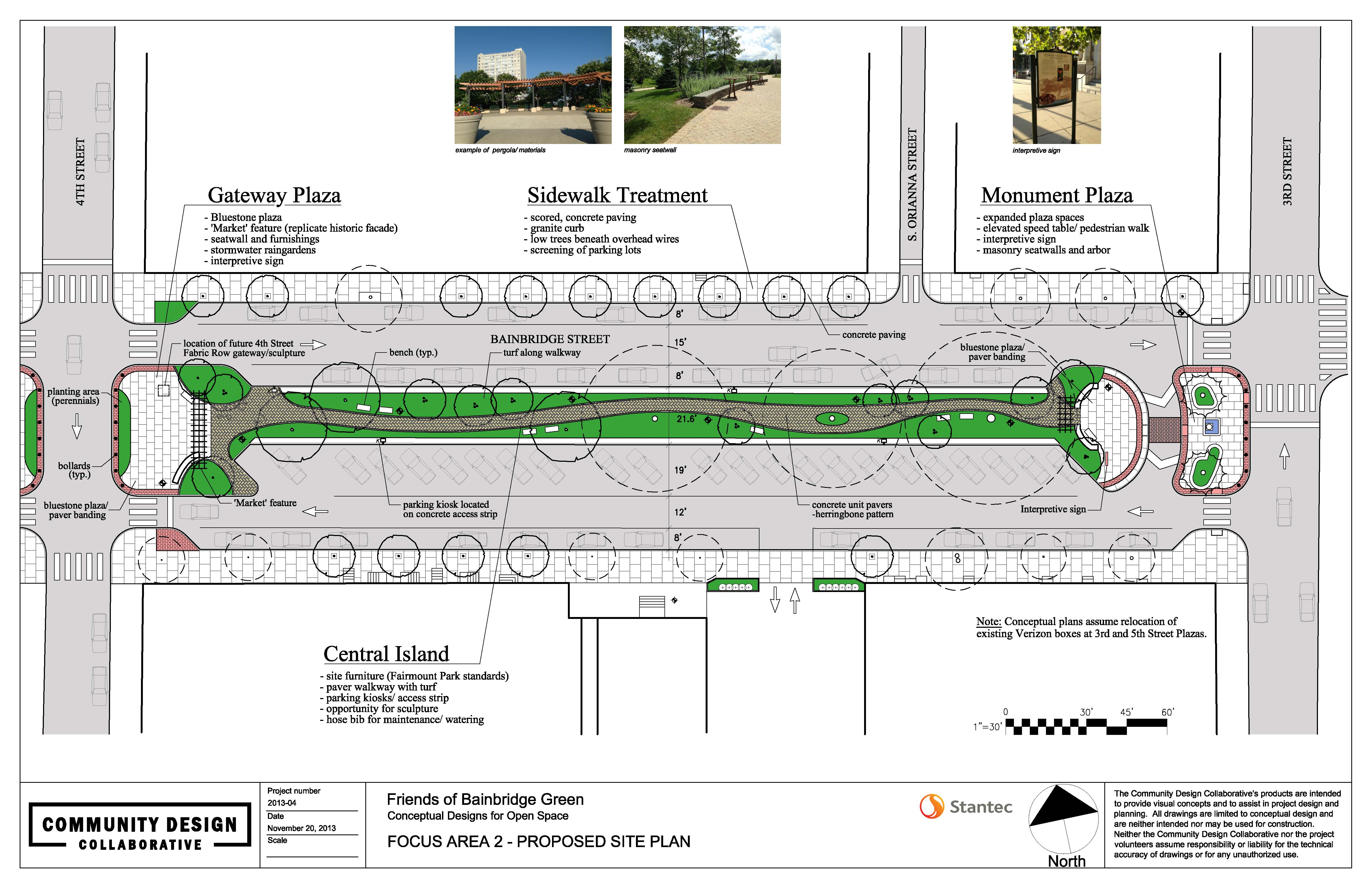 Bainbridge Green concept from 4th to 3rd streets | Community Design Collaborative