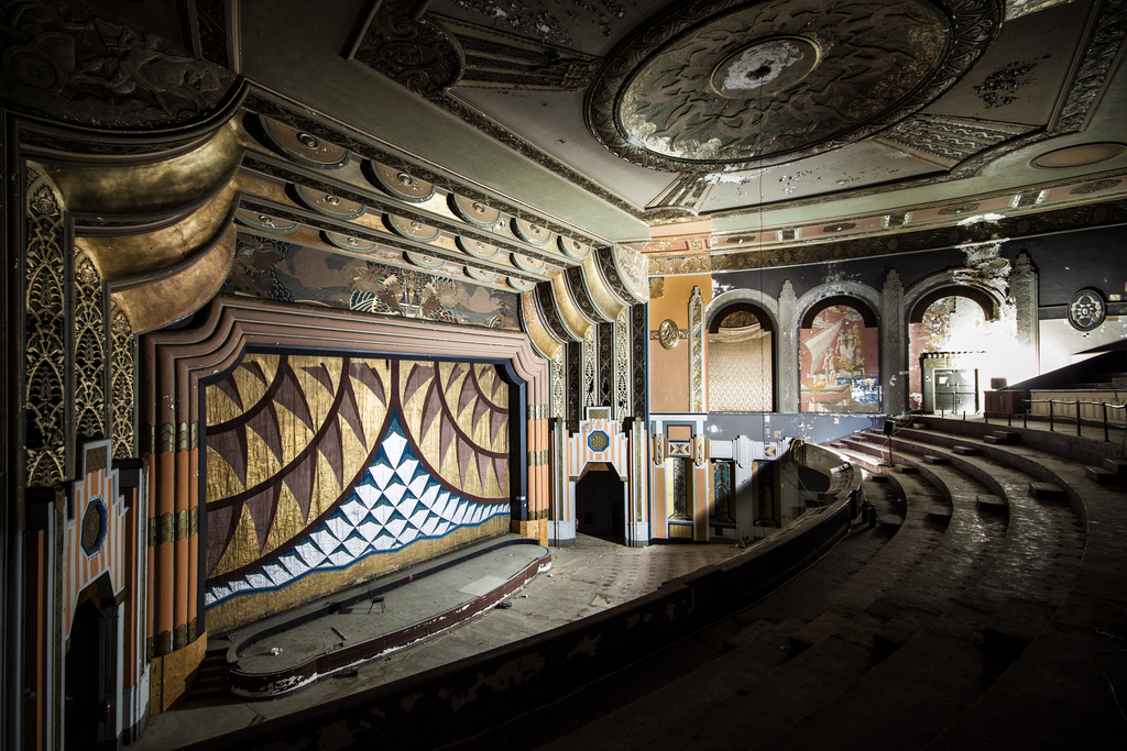 The interior of the Boyd Theater, back in 2012. It was demolished in 2015.