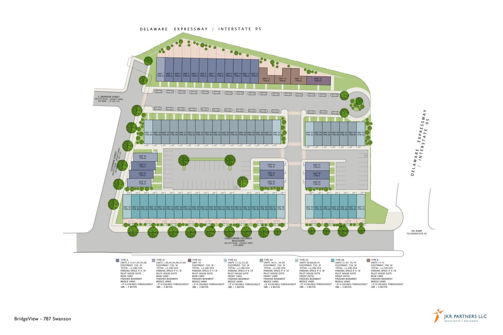 Site plan by and image courtesy of JKR Partners