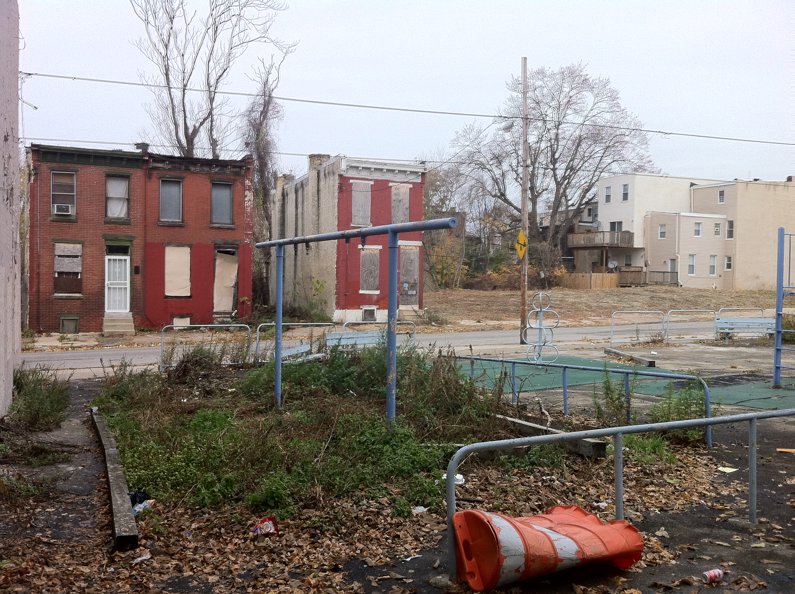 By the summer of 2015, the playground at 37th and Mt. Vernon streets could be completely overhauled. Photo courtesy of The Trust for Public Land