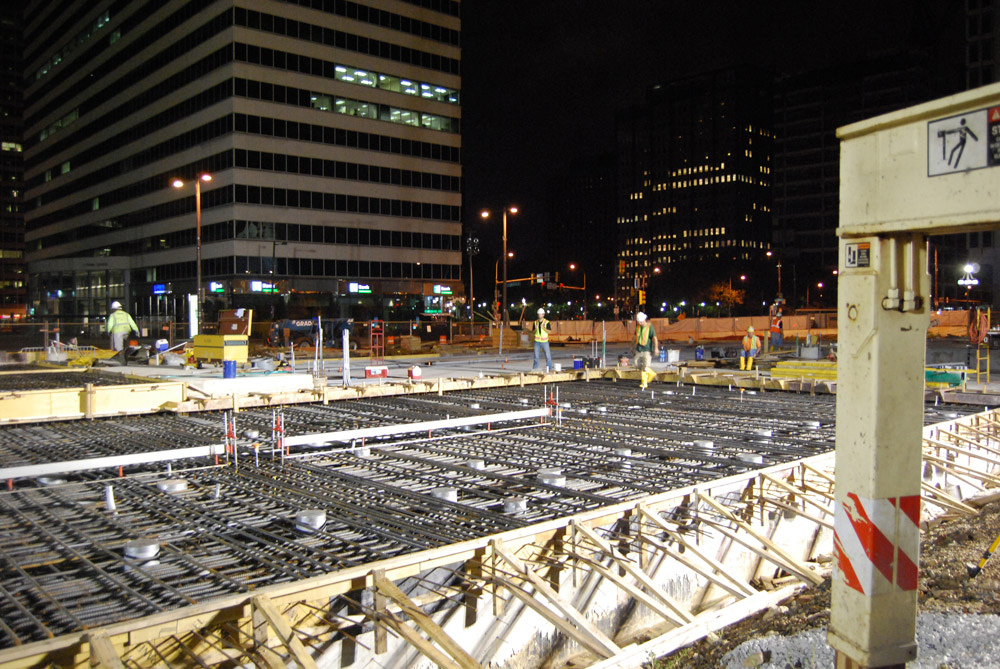 Construction on Dilworth Plaza in August 2013. Photo courtesy of Center City District Philadelphia