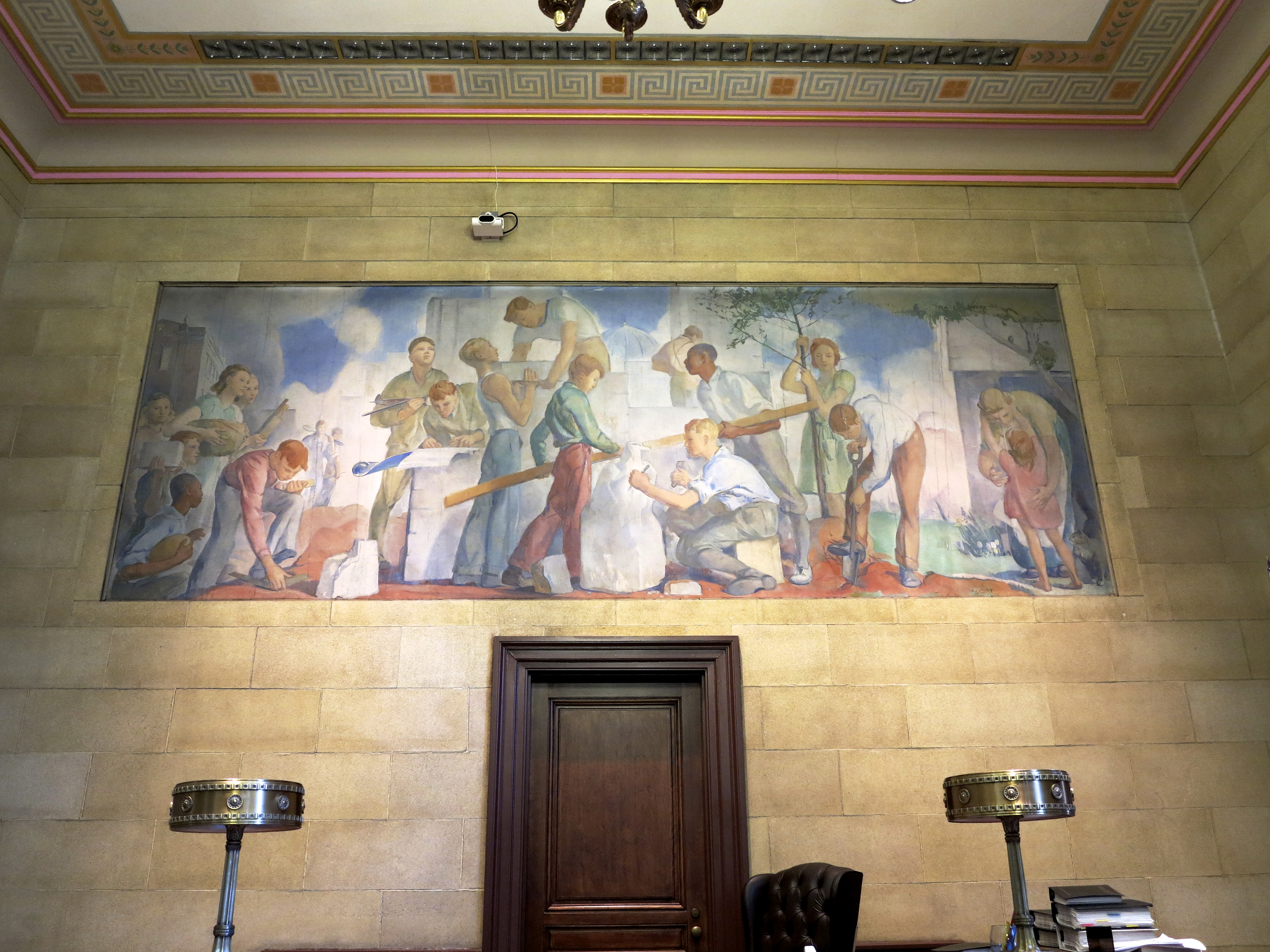 Courtoom A, Family Court. Mural by Alice Kent Stoddard