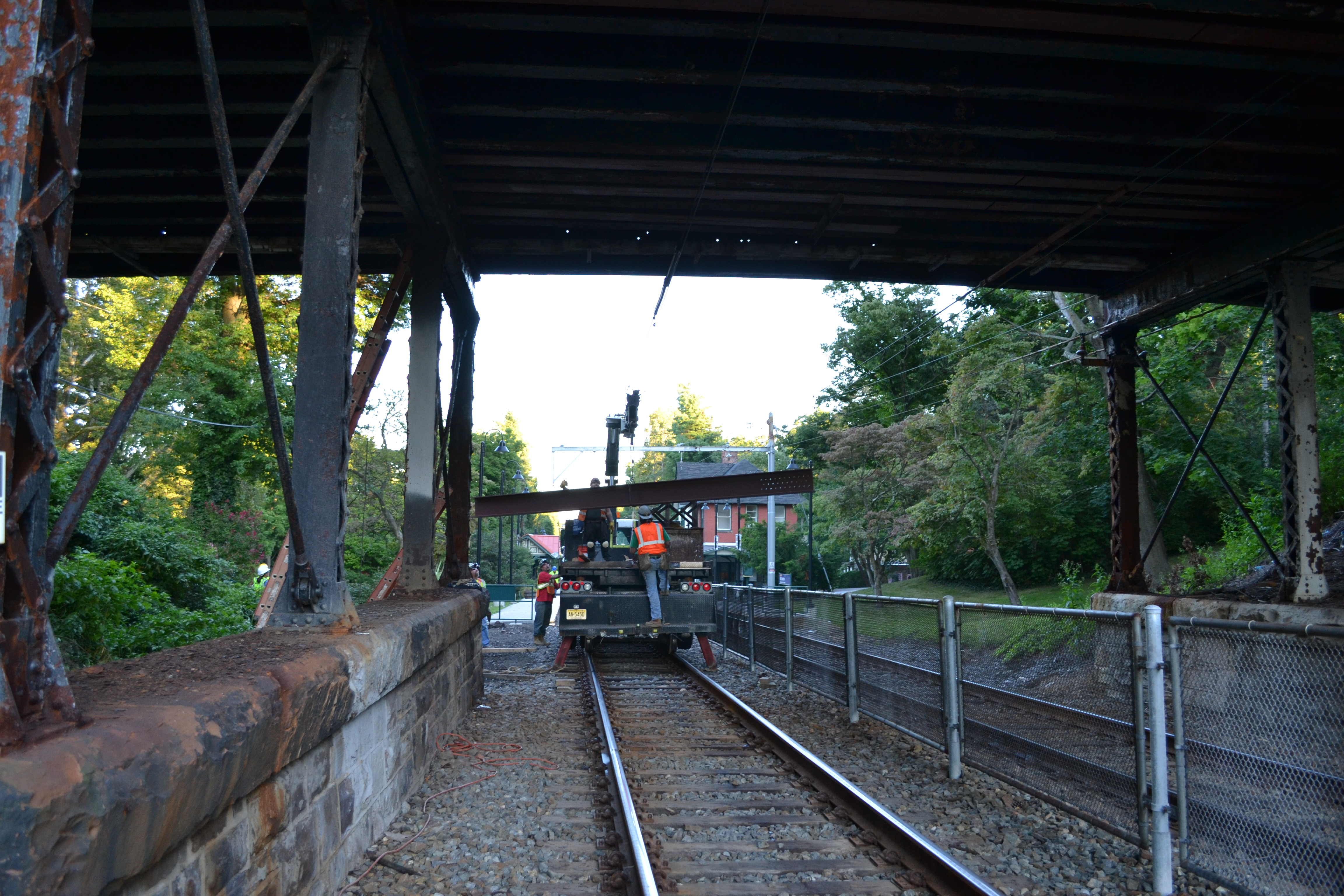 Crews completed the repairs over two weekend work blocks