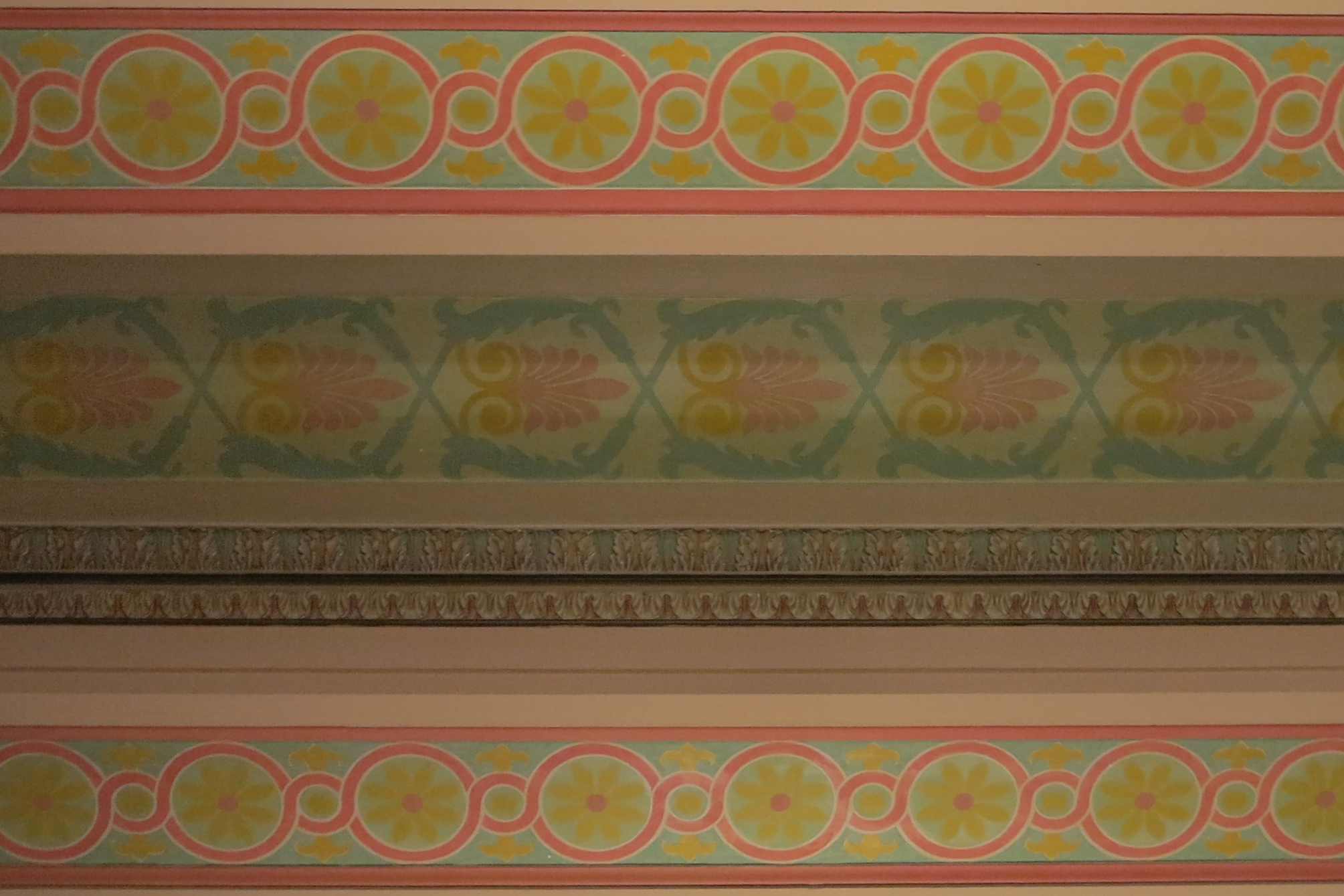 Decorative painting on beams, Family Court