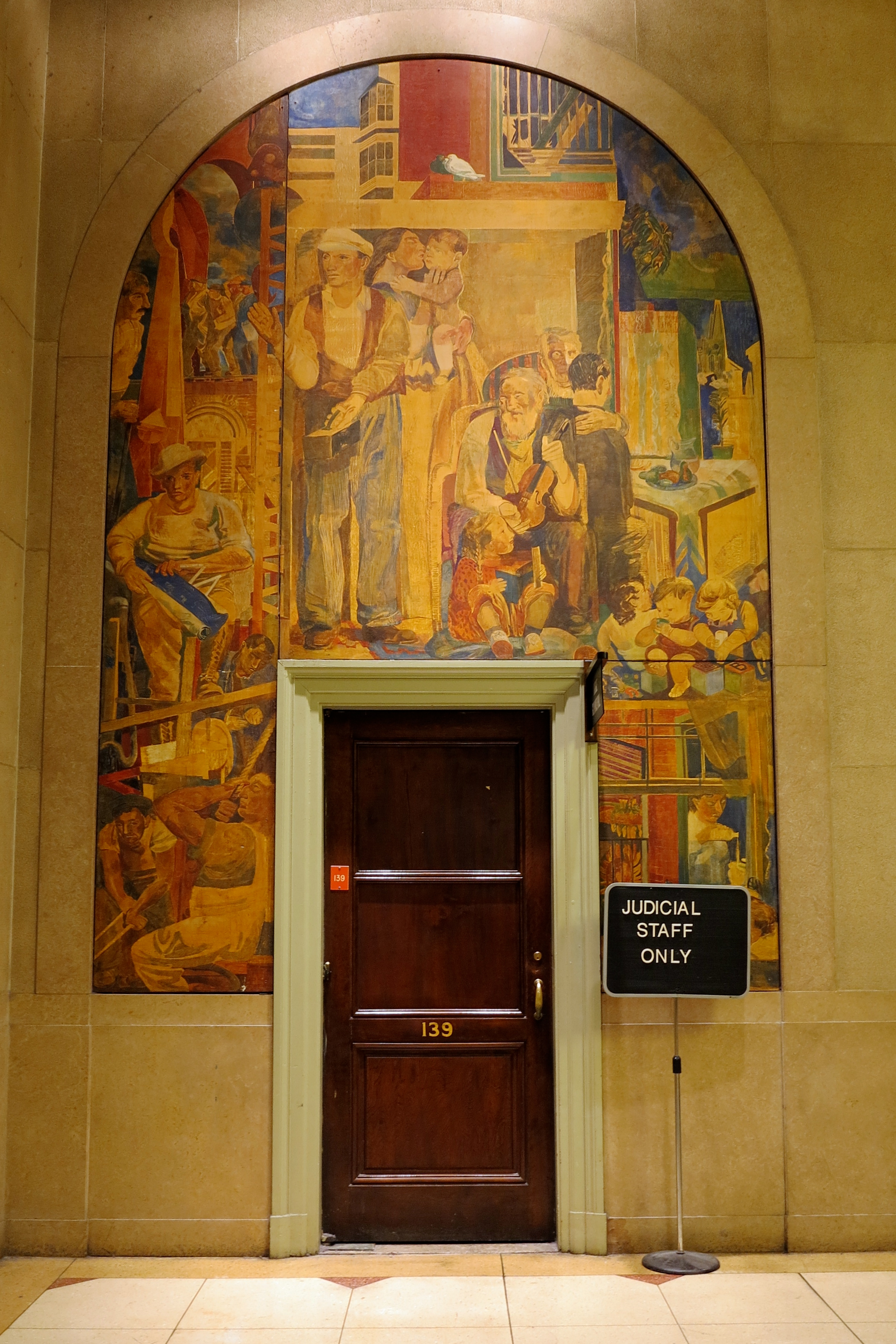 George M Harding mural, Main Hall, Family Court