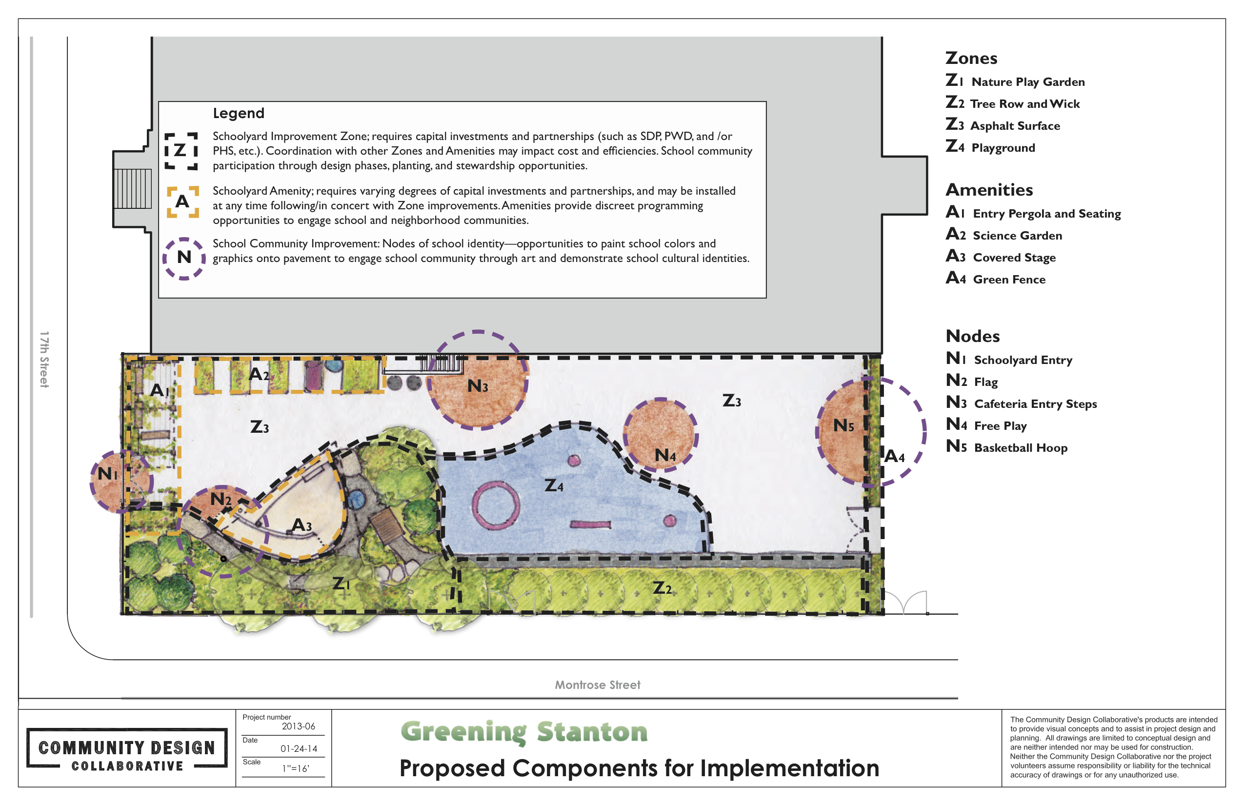 Greening Stanton component zones, Courtesy of the Community Design Collaborative