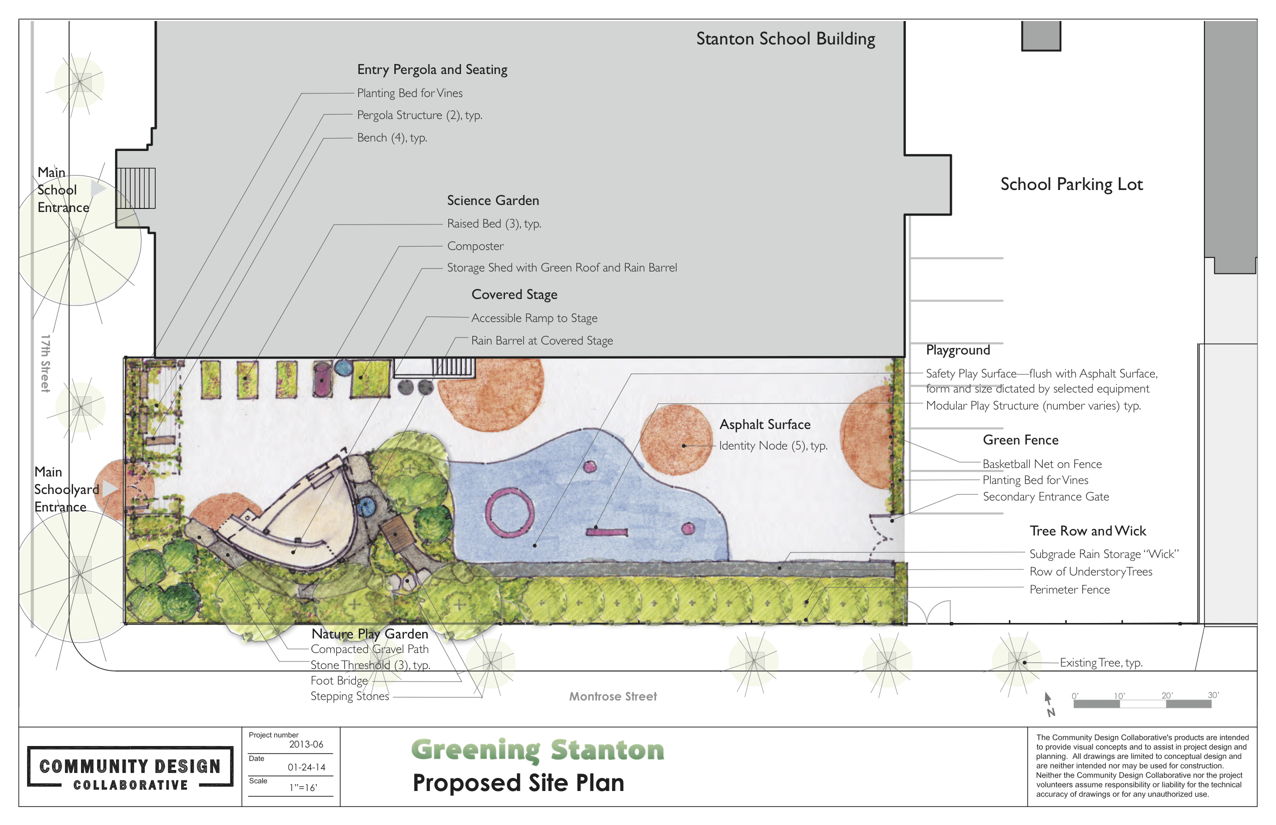Greening Stanton concept plan, Courtesy of the Community Design Collaborative