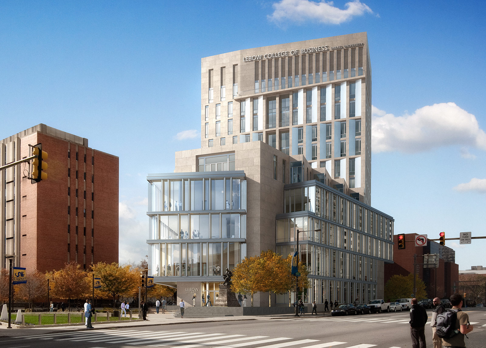 New Lebow College of Business from Market Street | Drexel University