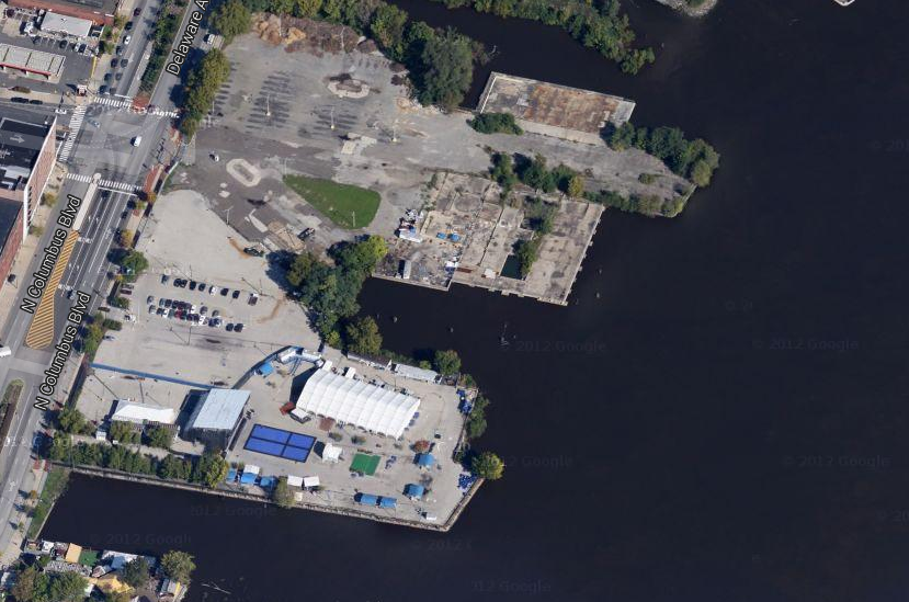Image of Festival Pier site from Google Maps