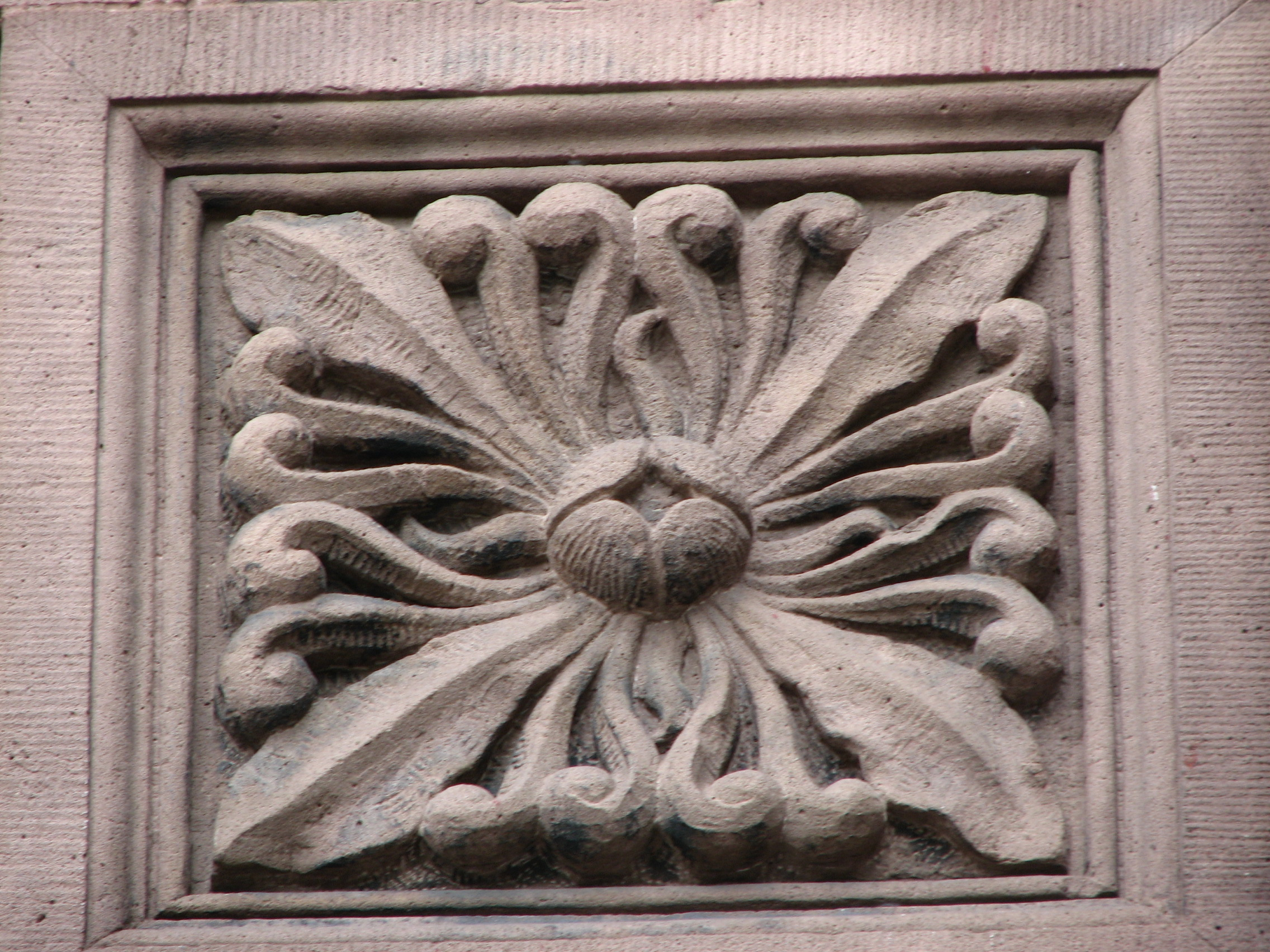 Floral designs are echoed throughout the design of the late19th century building.