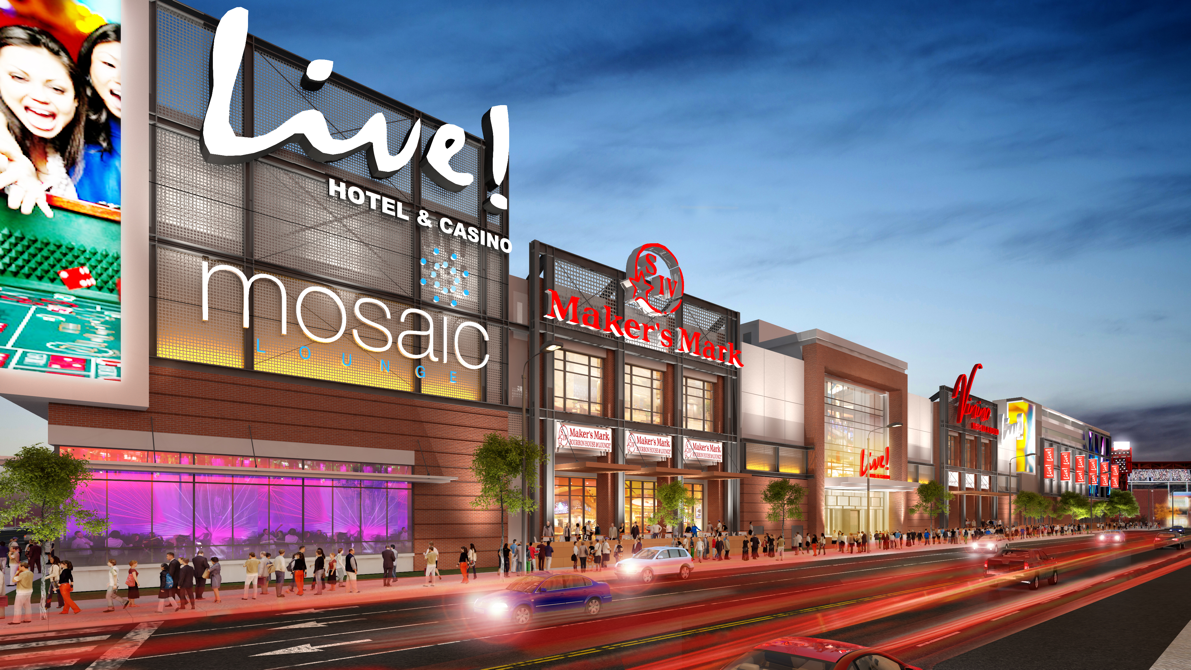 Live! Casino rendering, 10th Street perspective