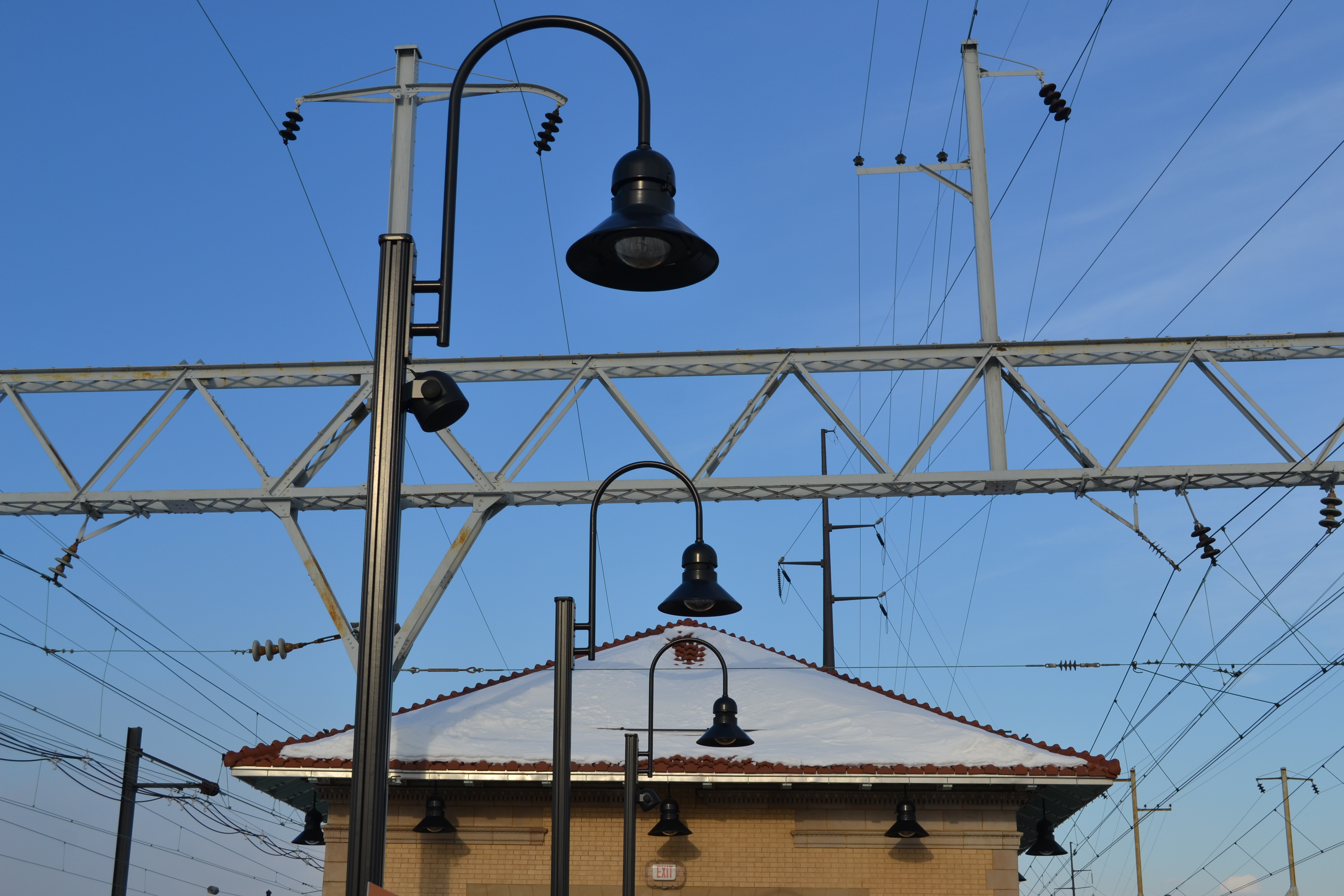 New lighting was installed as part of the platform renovations