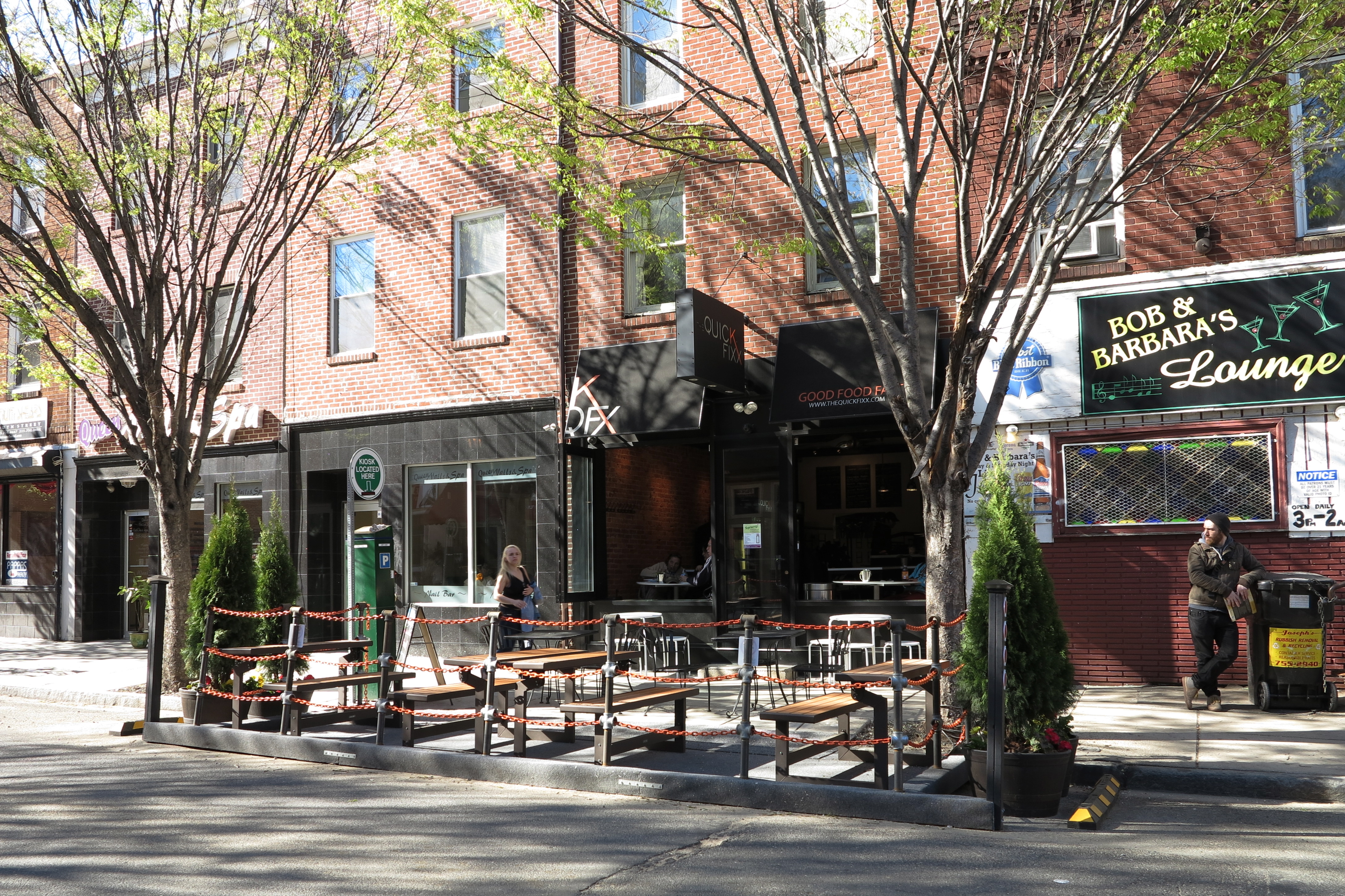 New parklet at The Quick Fixx, 1511 South Street