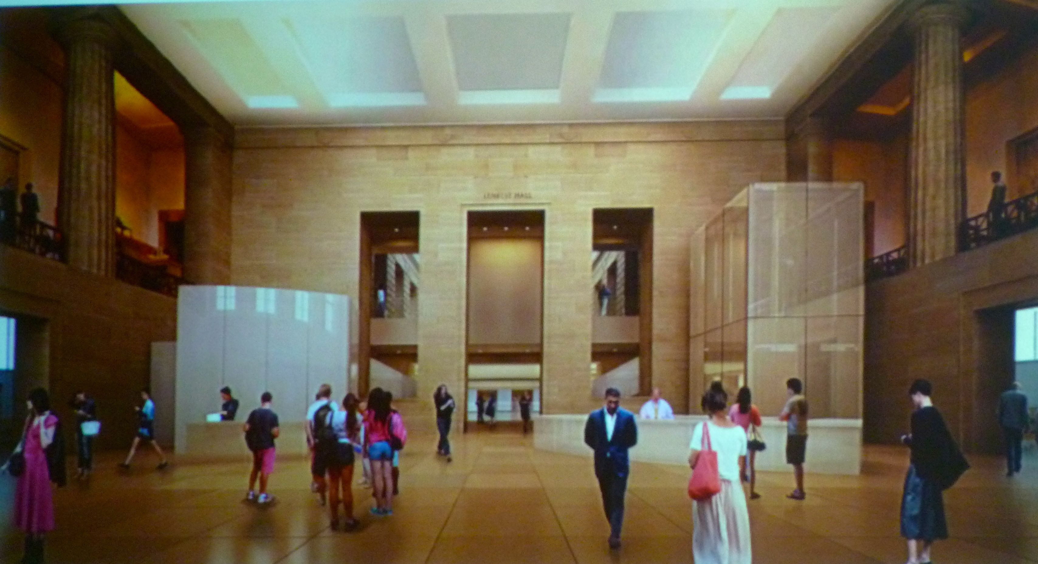 new west entrance interior original
