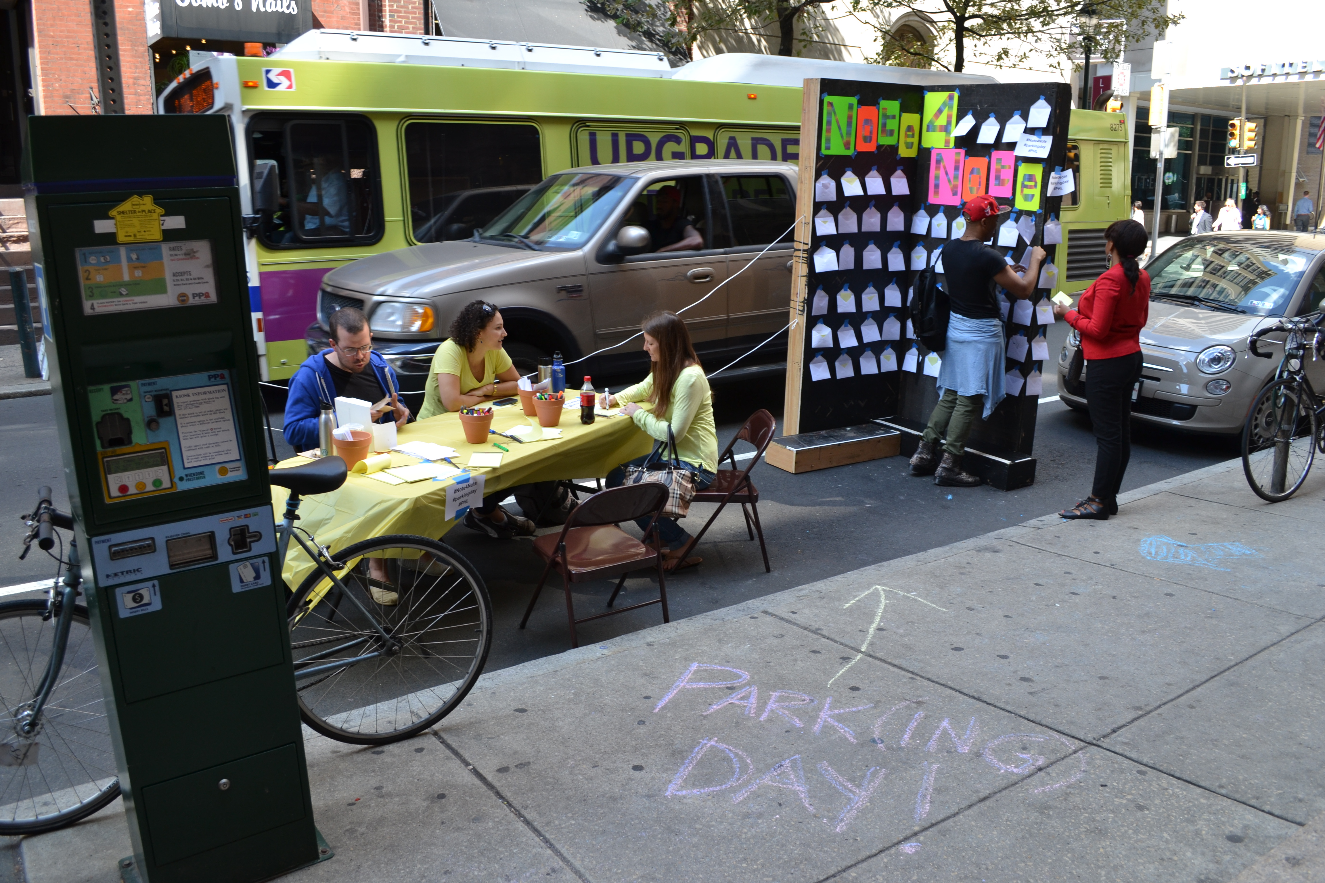 Park(ing) Day: Note-4-Note