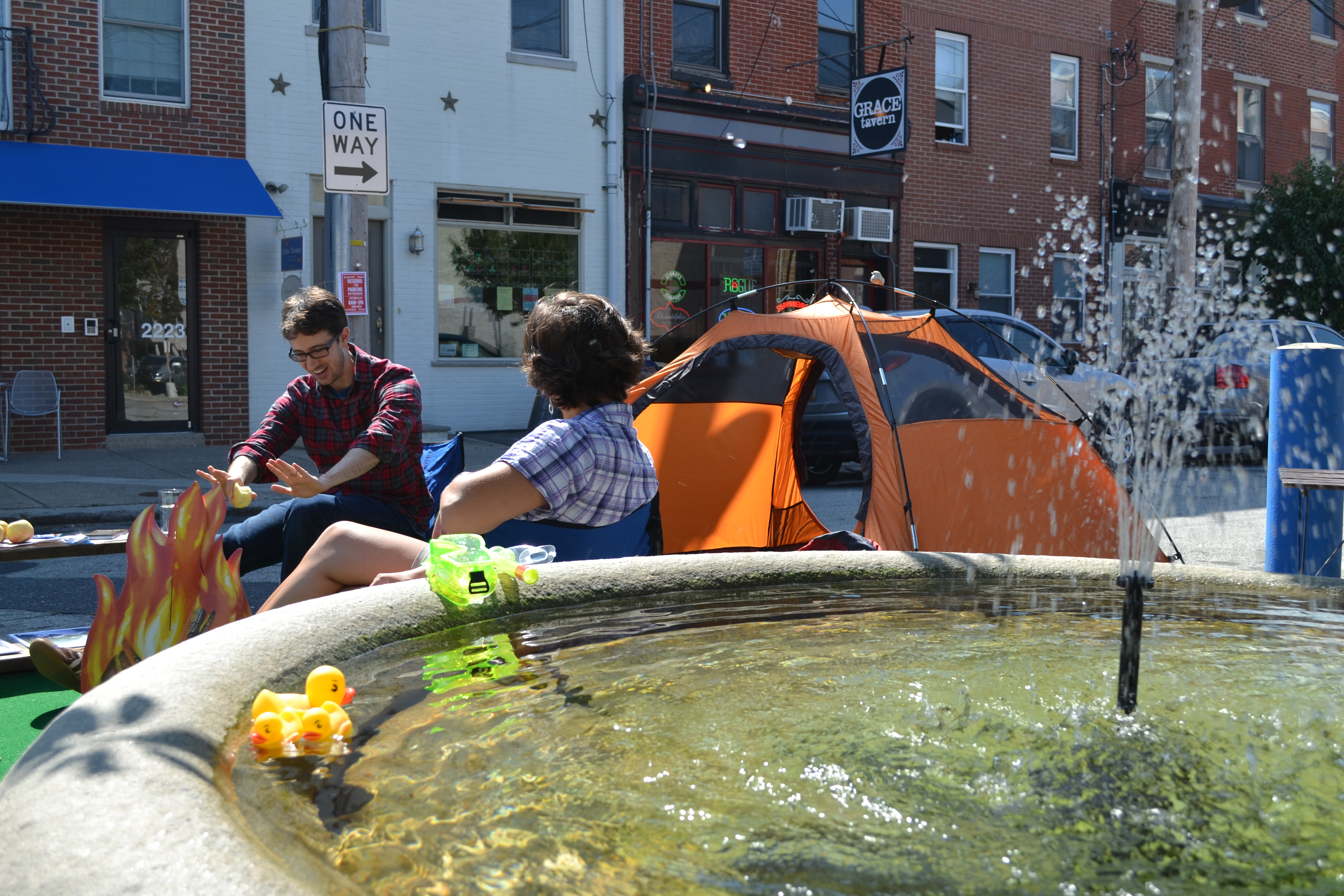 Park(ing) Day: SOSNA and Fireside Camp Supply
