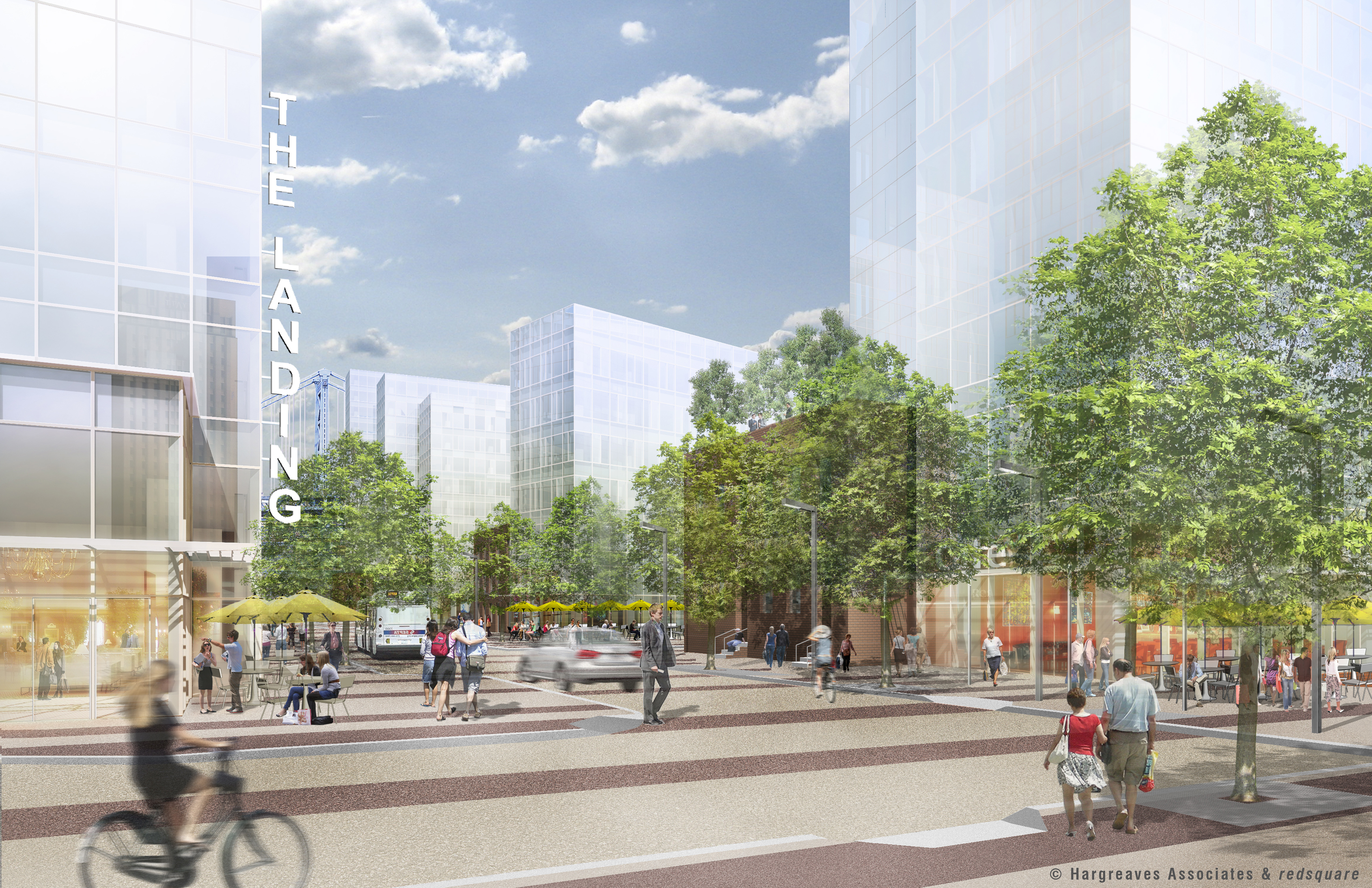 Penn's Landing Park development, © Hargreaves Associates & redsquare