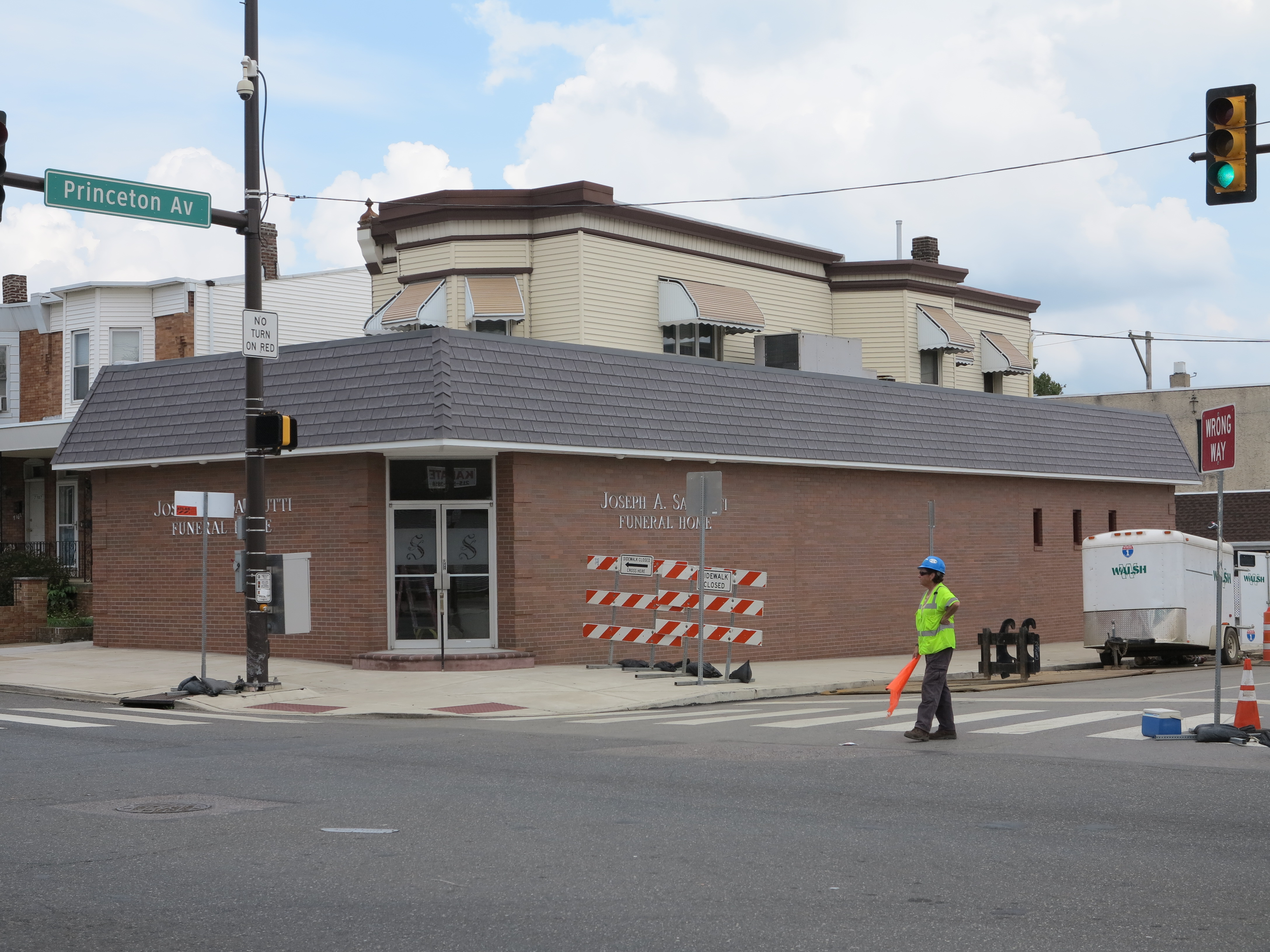 Sannutti Funeral Home went from stucco to brick in the last year.