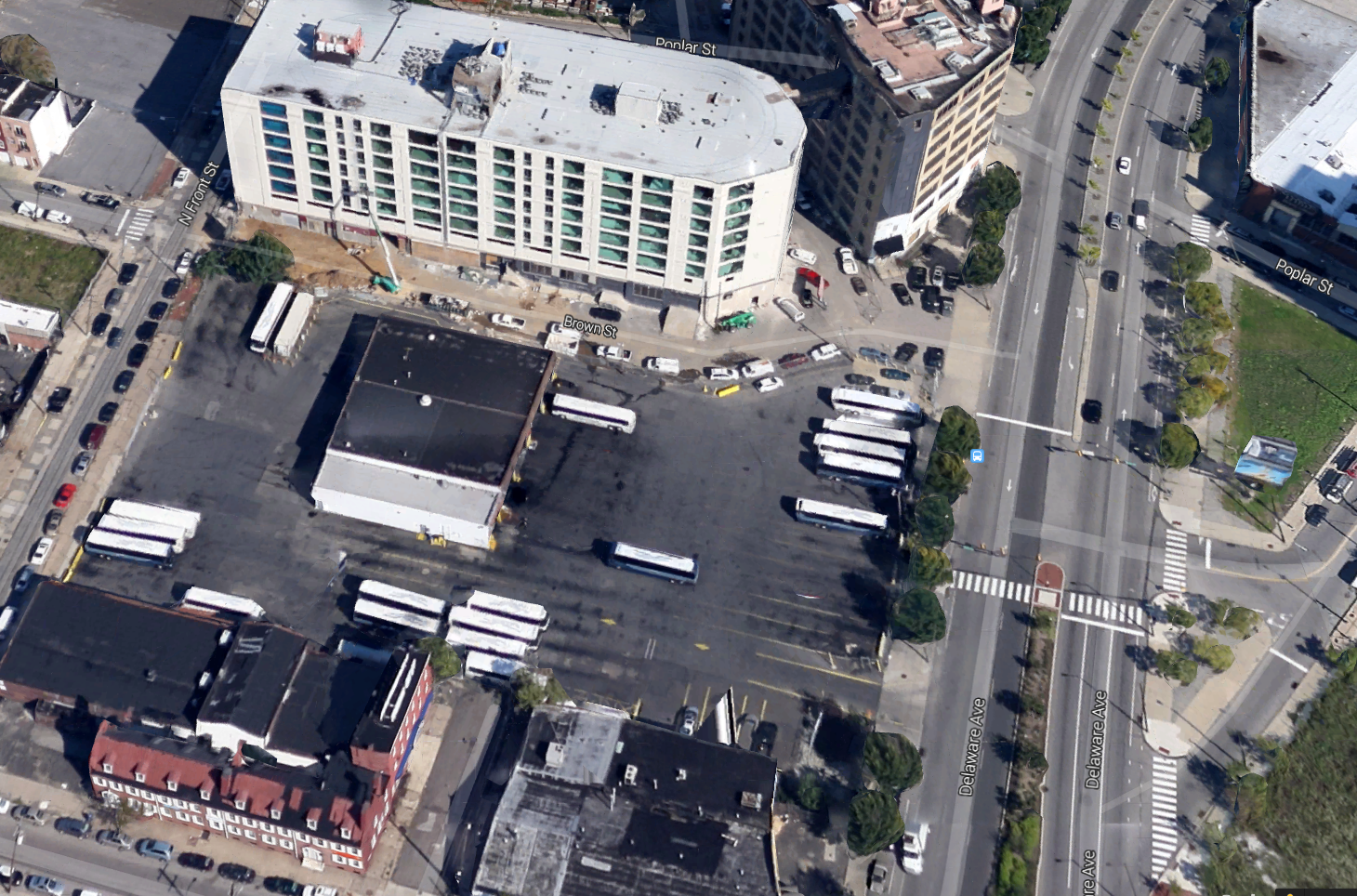 The proposed Delaware Ave. site for a Piazza Group car dealership