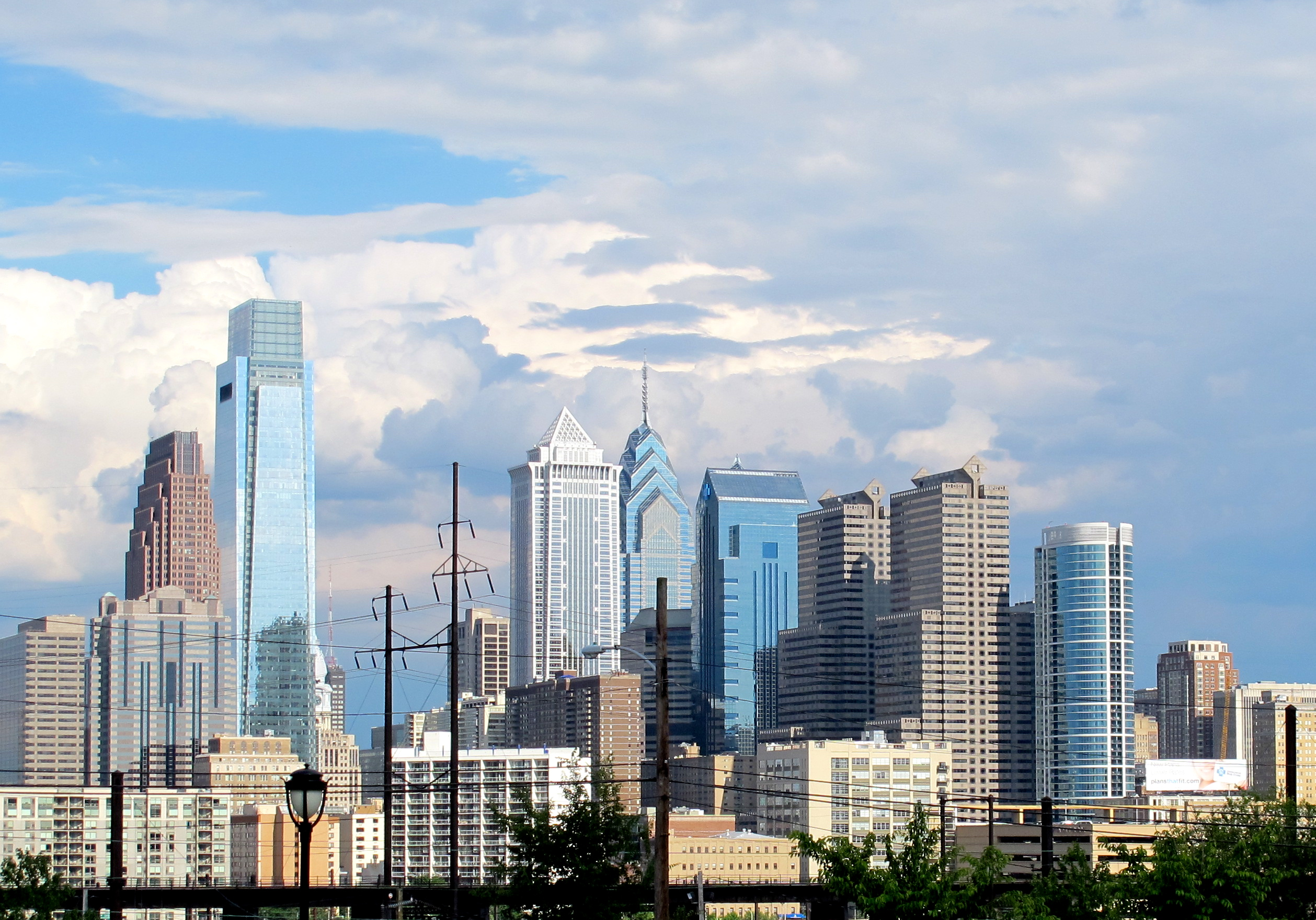 A skyline photo of Center City taken from West Philadelphia.