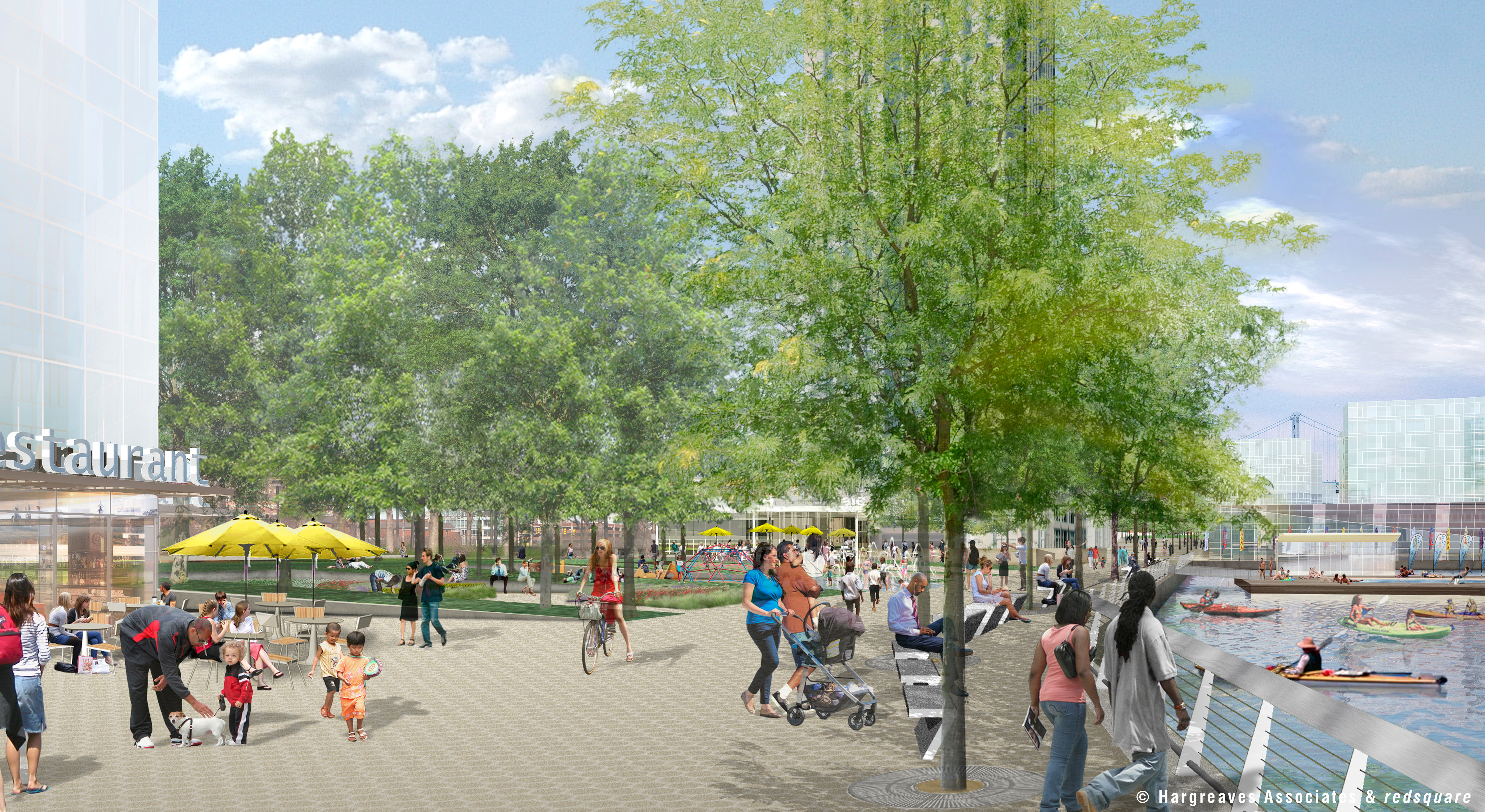Spruce Street Harbor Park Development,© Hargreaves Associates & redsquare