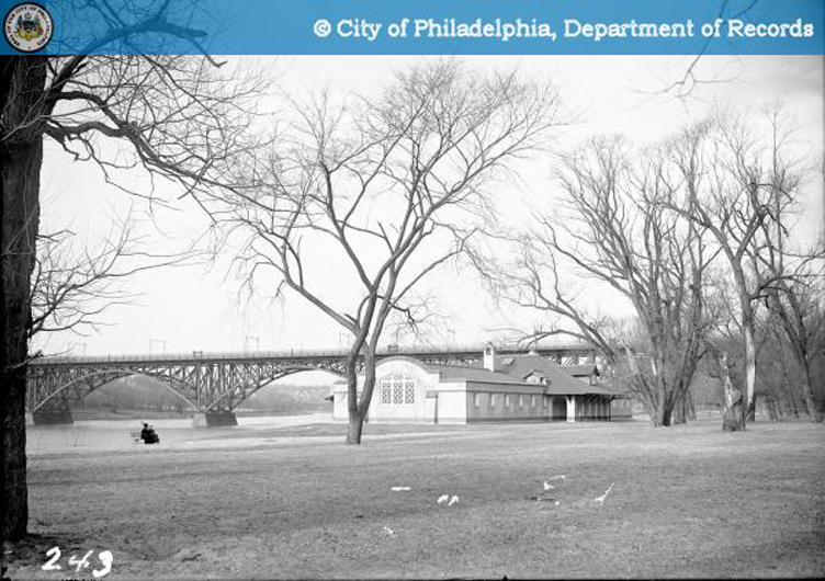 Strawberry Mansion Canoe Club and Trolley Bridge - 1915 | Department of City Transit, PhillyHistory