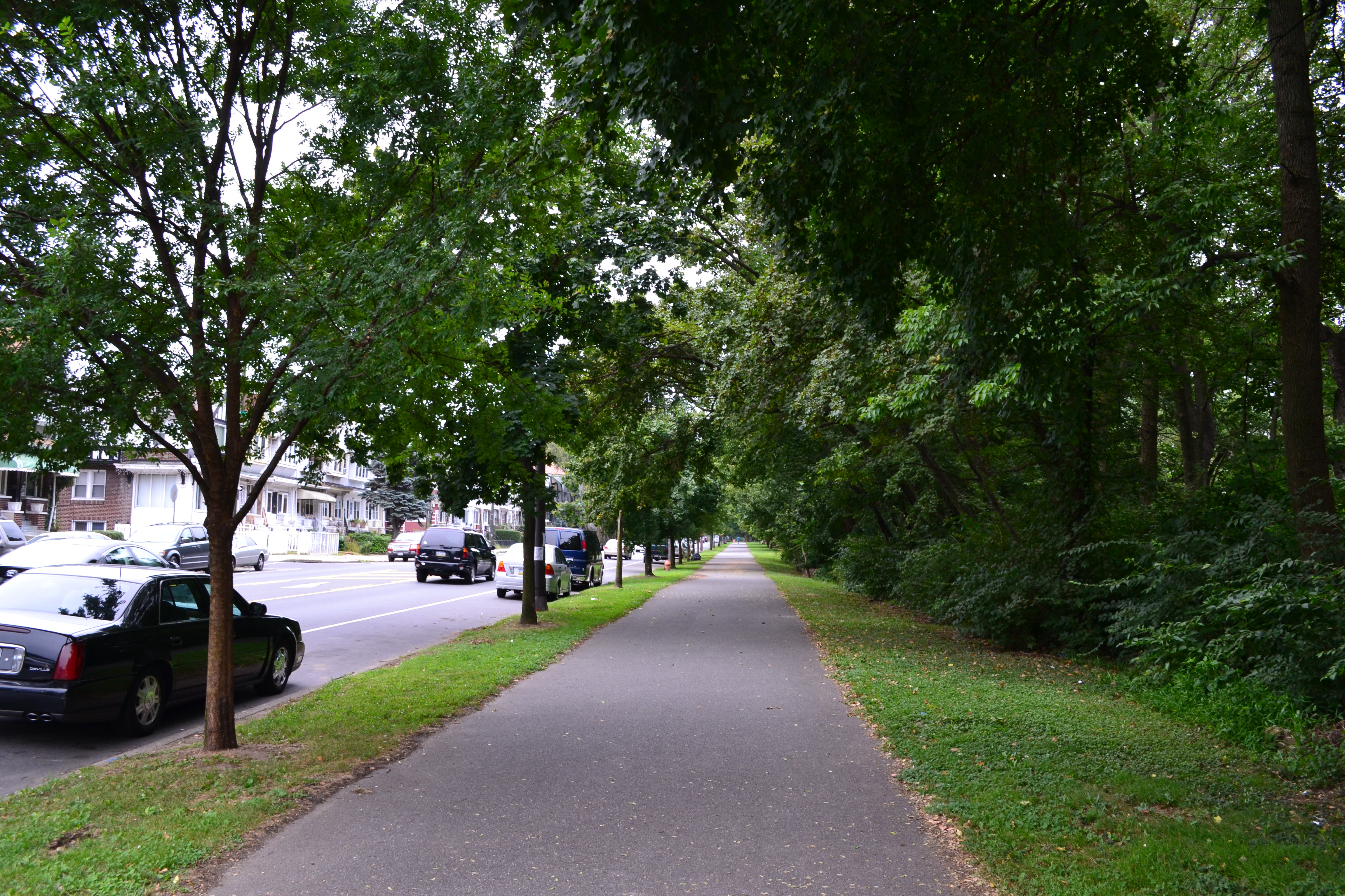 The Cobbs Creek Trail is a mostly off-road, paved trail that runs along Cobbs Creek Park from 63rd and Market streets to approximately 70th Street and Woodland Ave