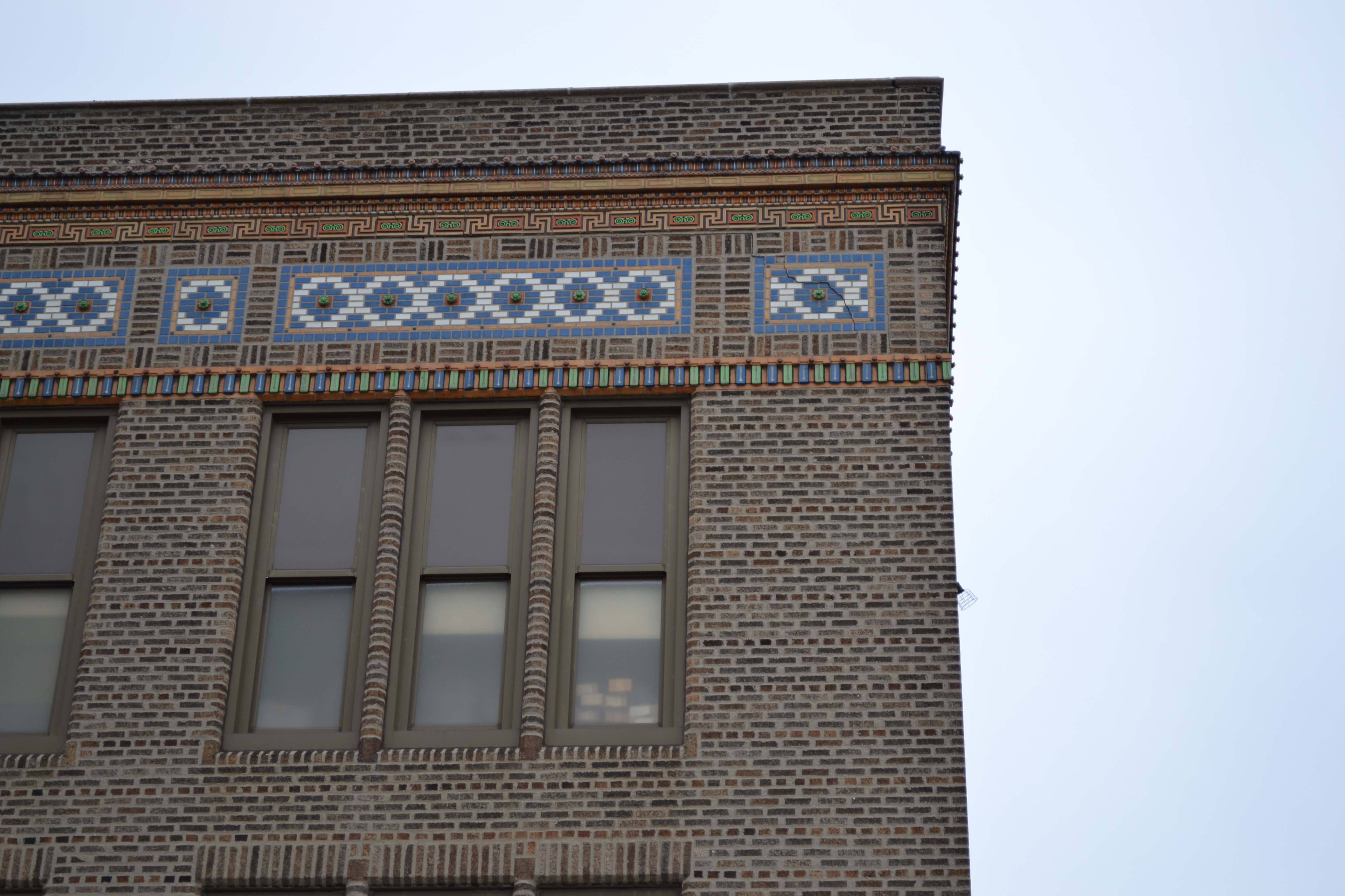 The design takes the decorative detail of the building's facade into account