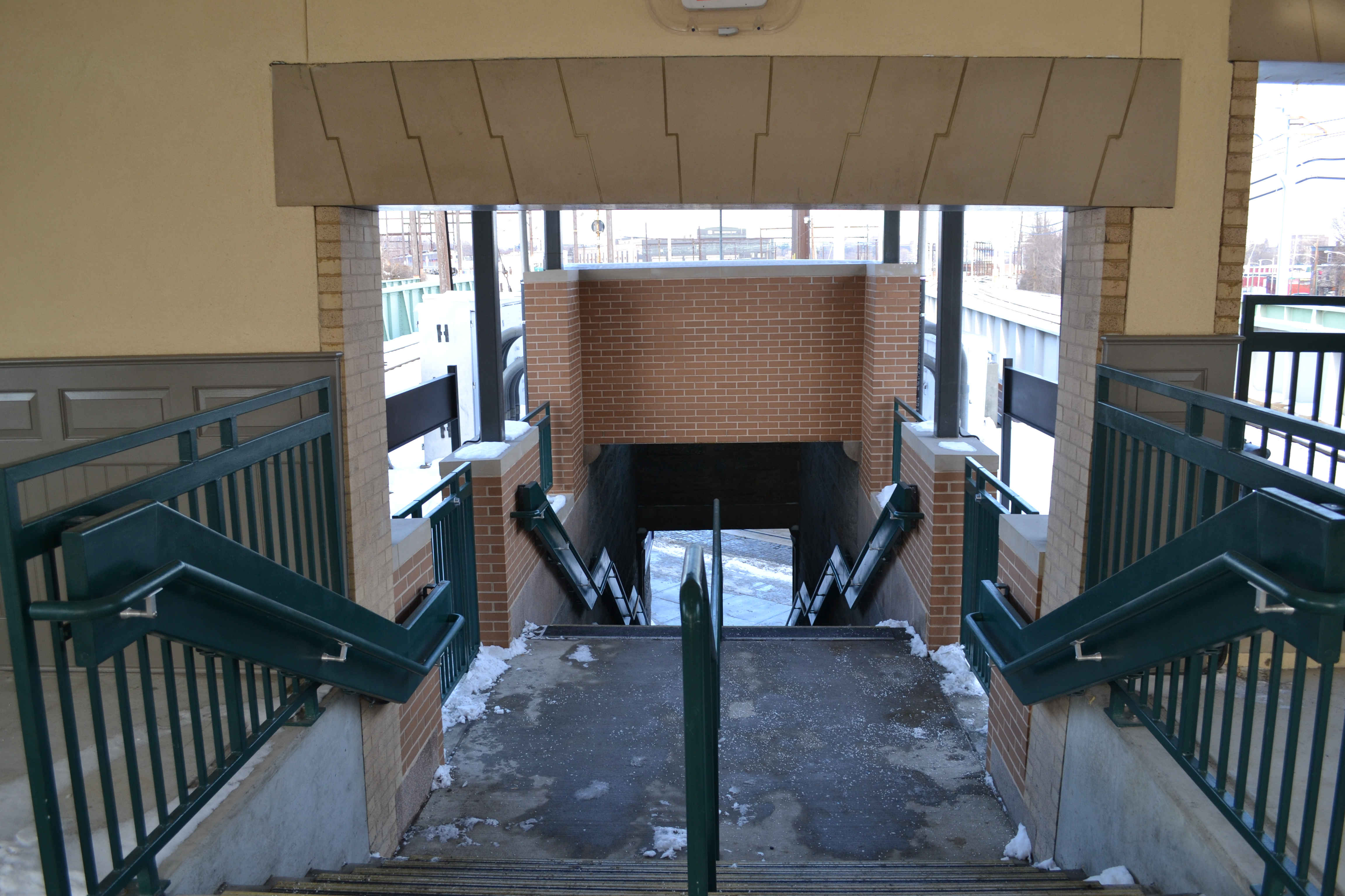 The Germantown Ave stairs to inbound and outbound platforms have been renovated and are now open