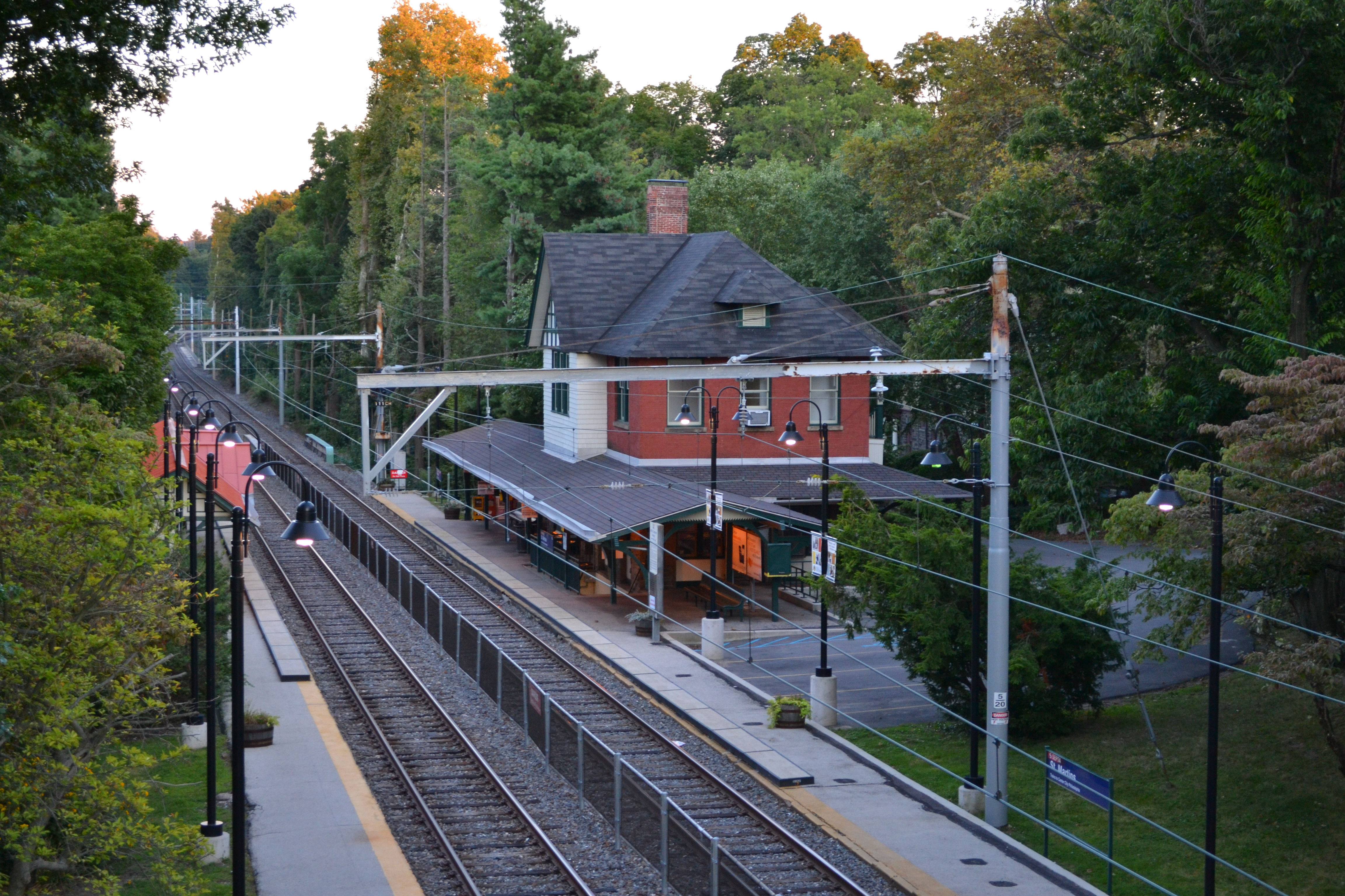 The new bridge will have design elements that match SEPTA's St. Martin Station