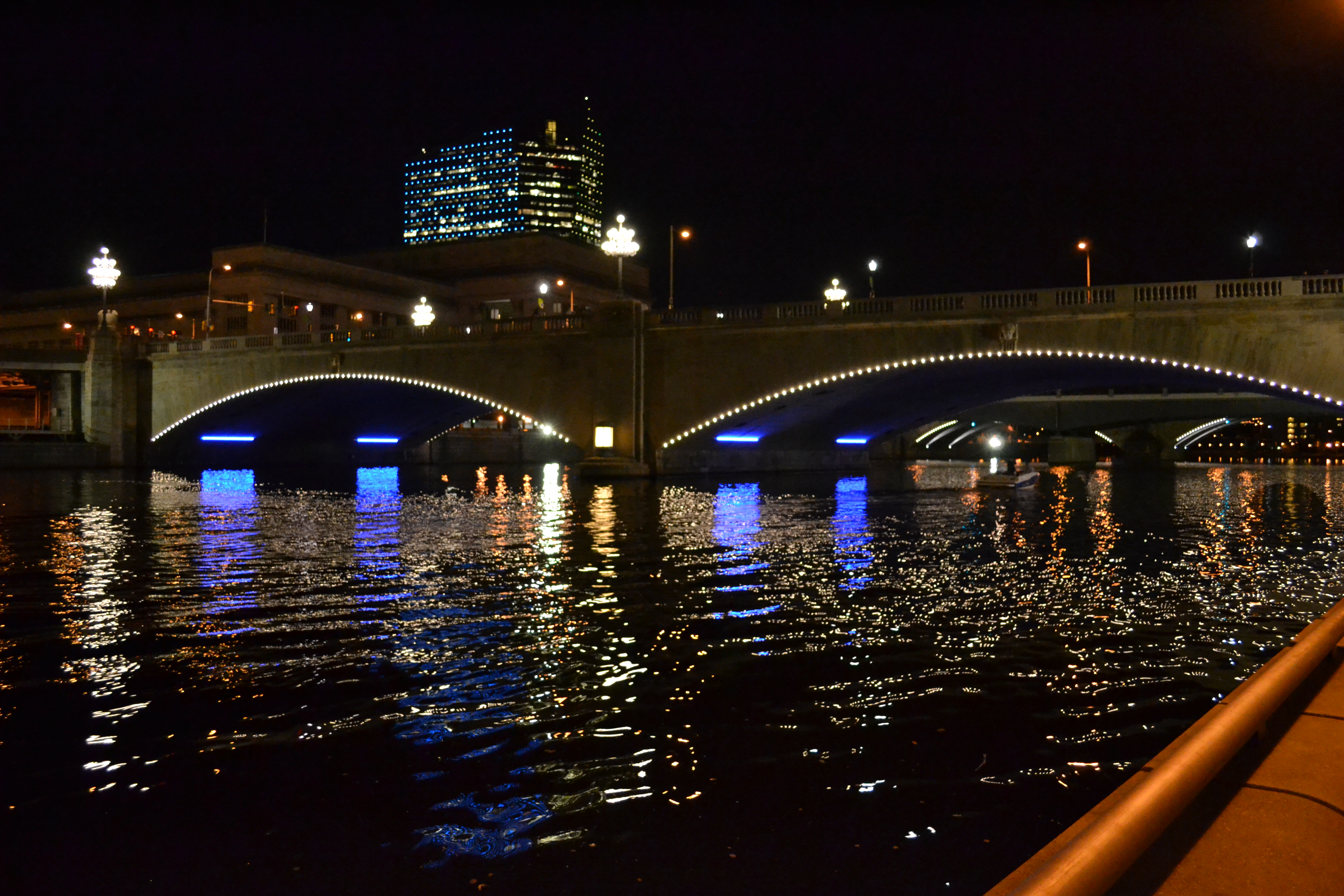 The new lights were part of the Schuylkill Banks Bridge Lighting project