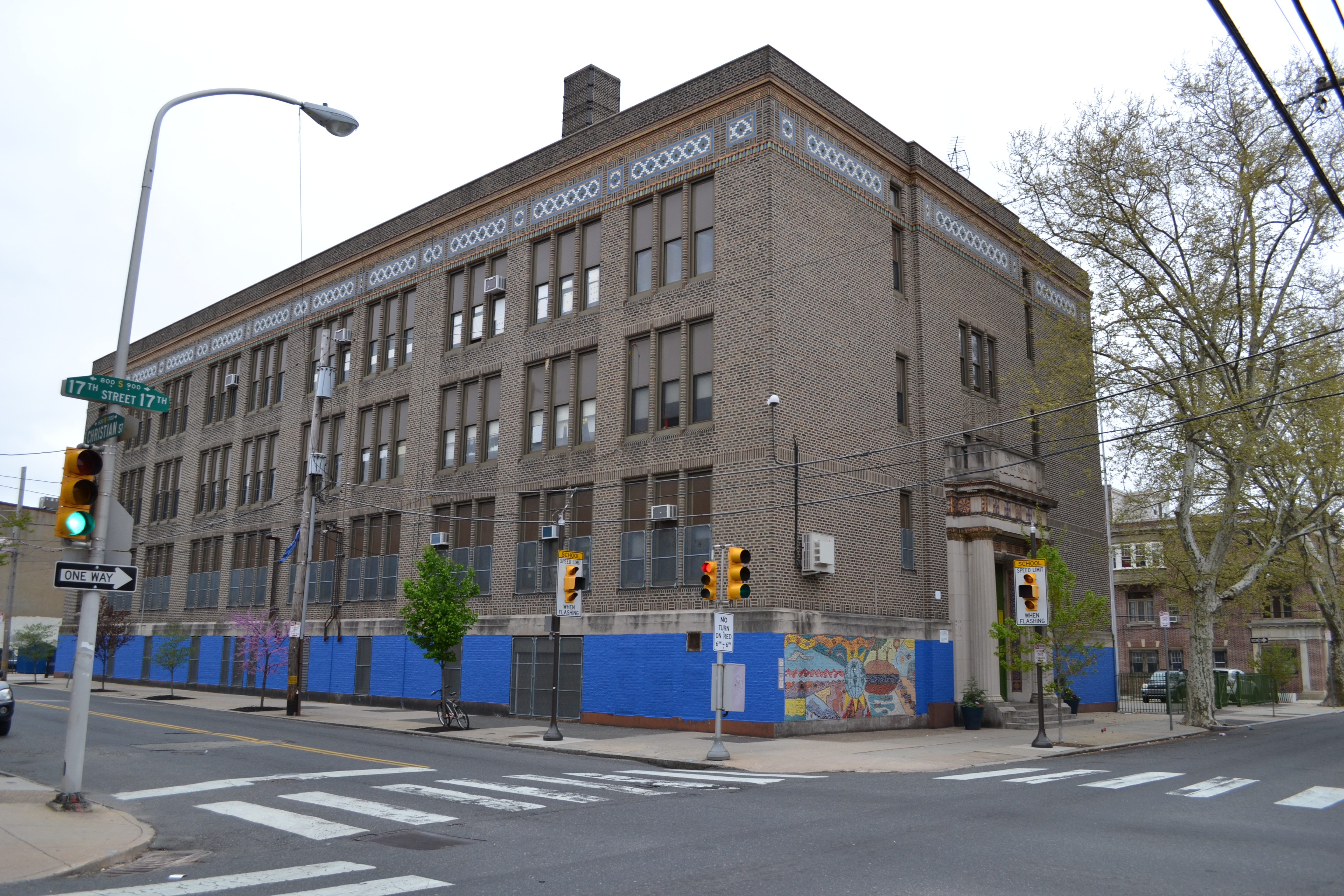 The project scope is limited to the schoolyard, not the full permitter of the building