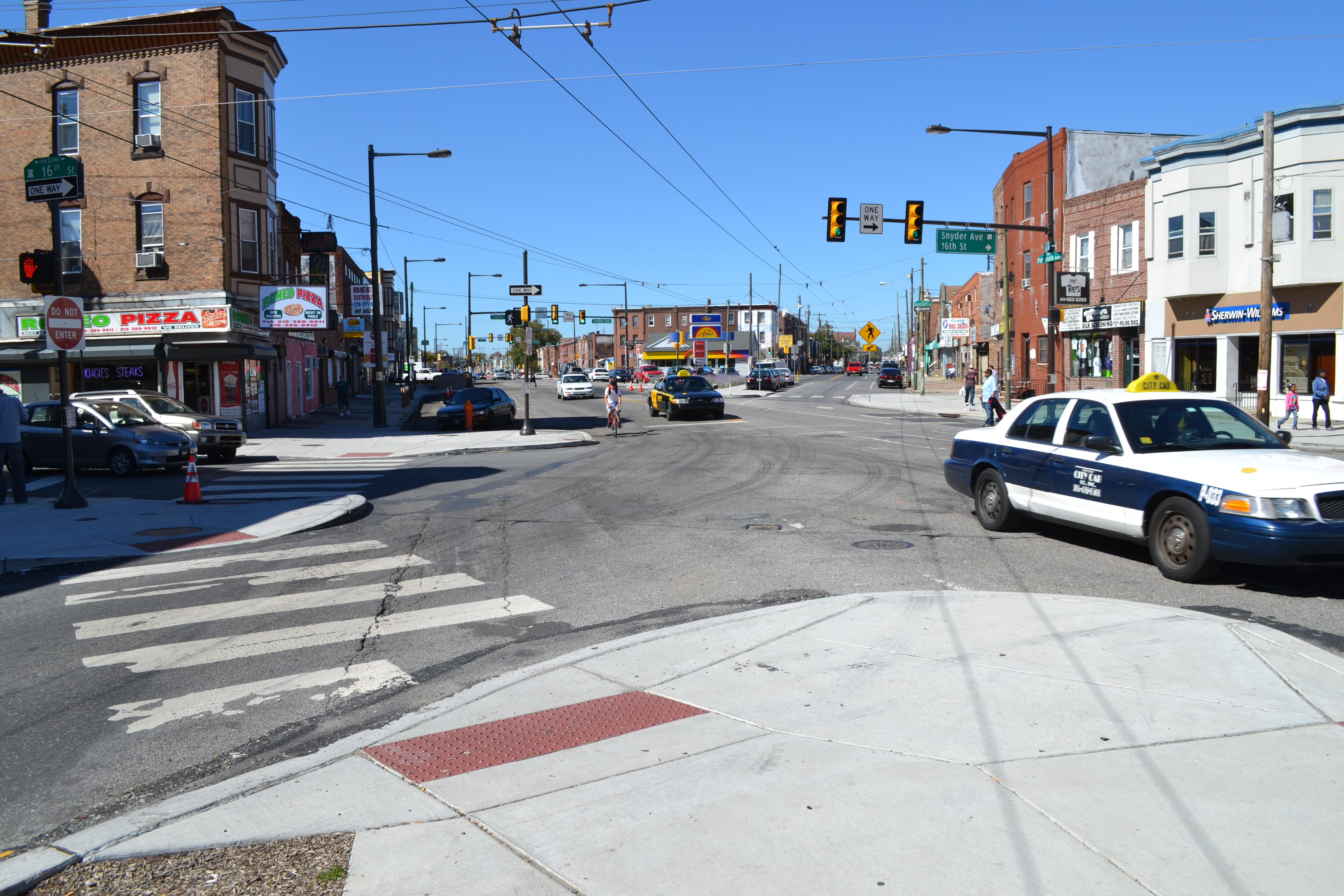 The Streets Department has essentially completed traffic signal and intersections upgrades along West Passyunk Ave