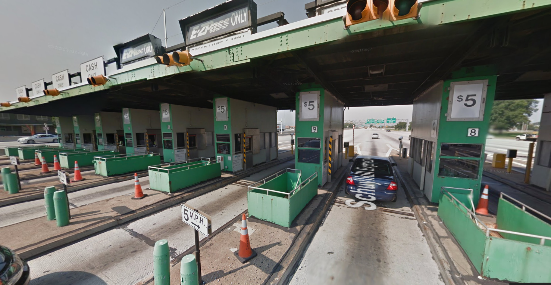 Walt Whitman toll booths