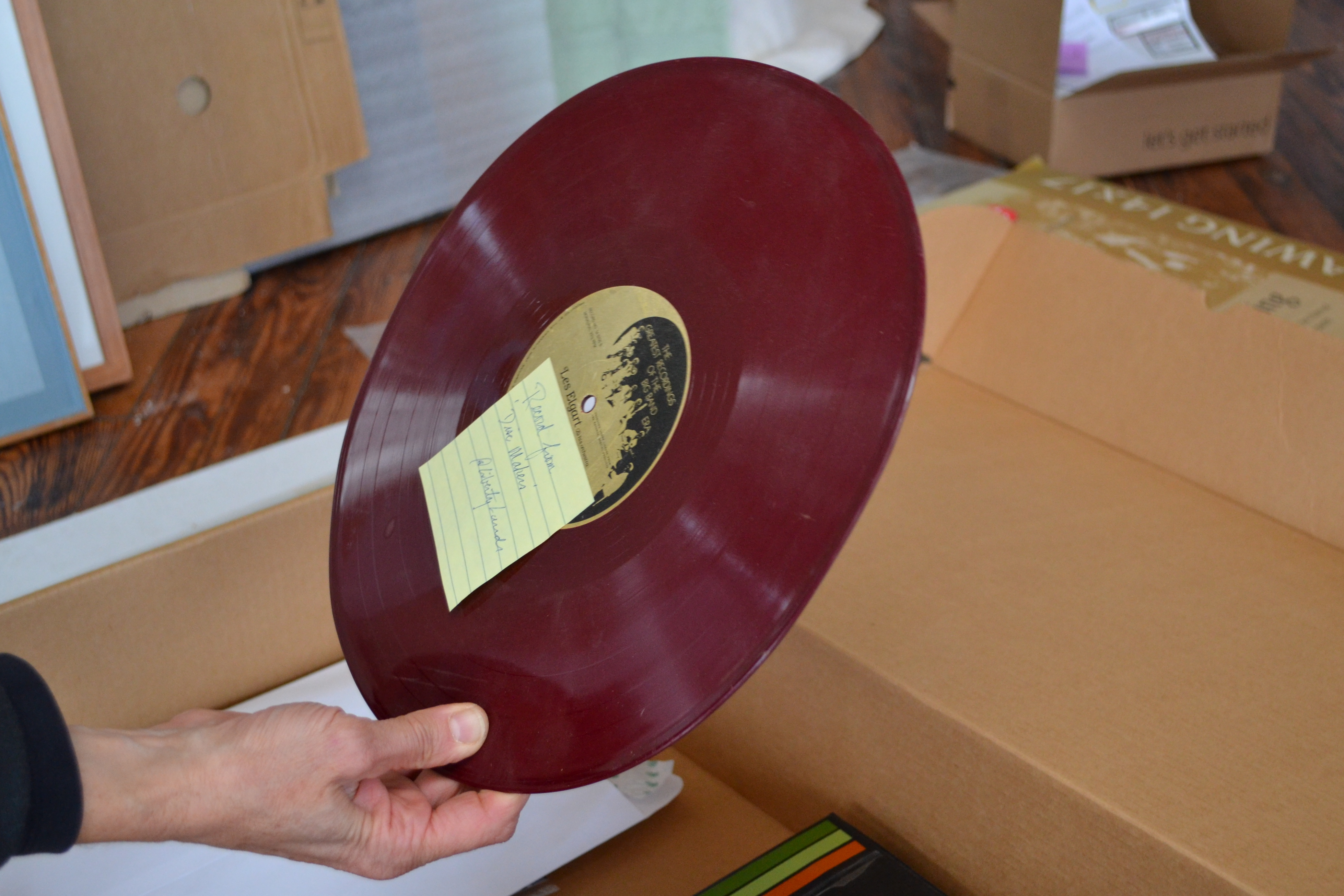 While building Liberty Lands Park, neighbors found pits of red vinyl records made by Disc Makers