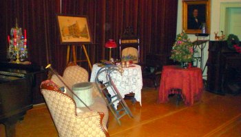 The Historical Society of Frankford puts local, historical Christmas items on display for an event held Dec. 8, 2009.