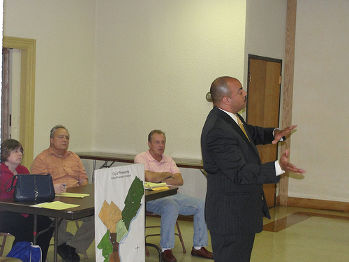 District Attorney Seth Williams at the June Northwood Civic Association meeting.