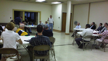 Northwood Civic Association President Barry Howell recaps the group's progress since the last meeting.
