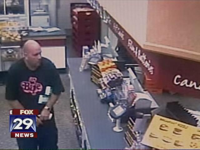 One of three suspects sough in a series of WaWa robberies. Courtesy of FOX 29.