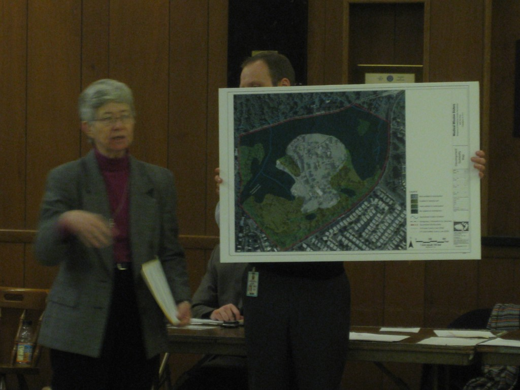 Medical Mission Sisters presented plans for a zoning variance with the Fox Chase community groups.