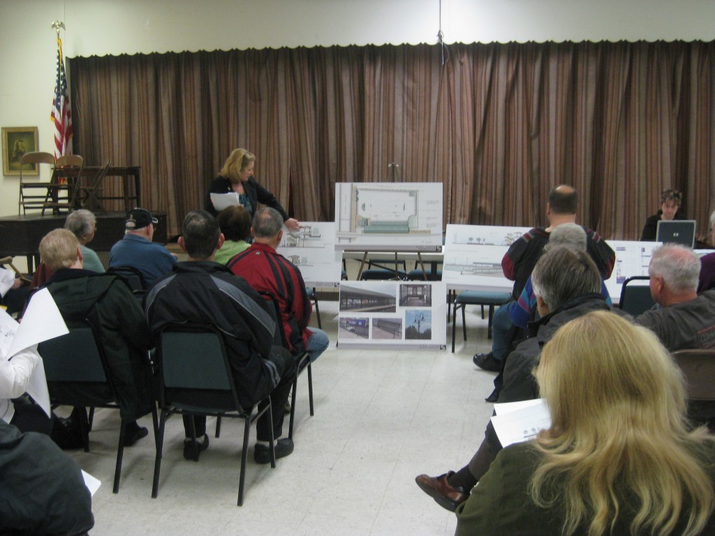 Burholme residents take a peek at SEPTA's plans for Ryers Train Station.